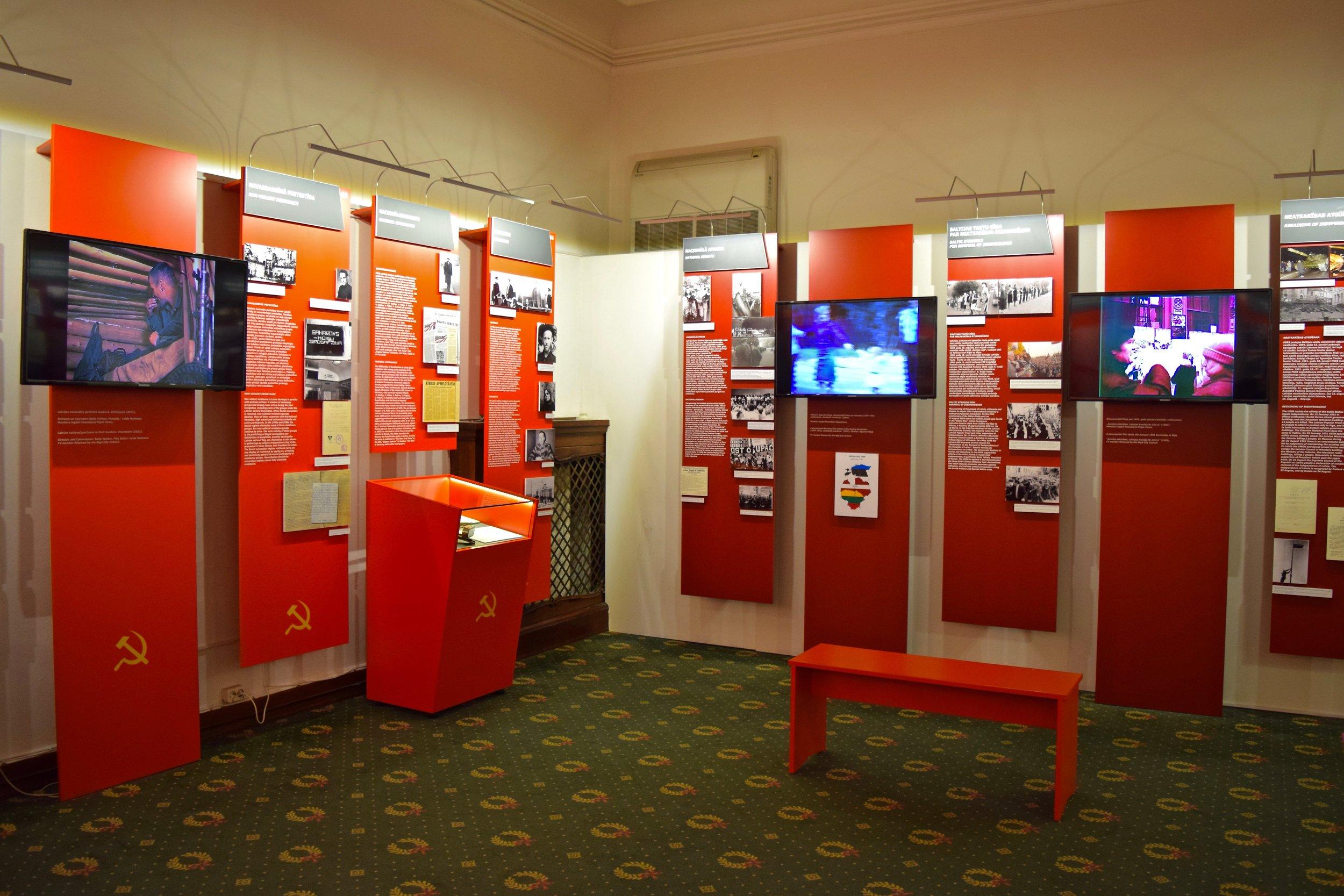 Interior del Museo de la Ocupación de Letonia