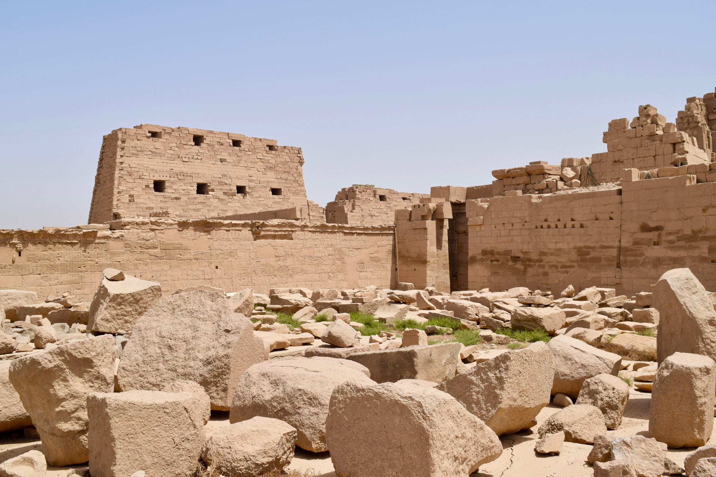 Ruins in Karnak Temple