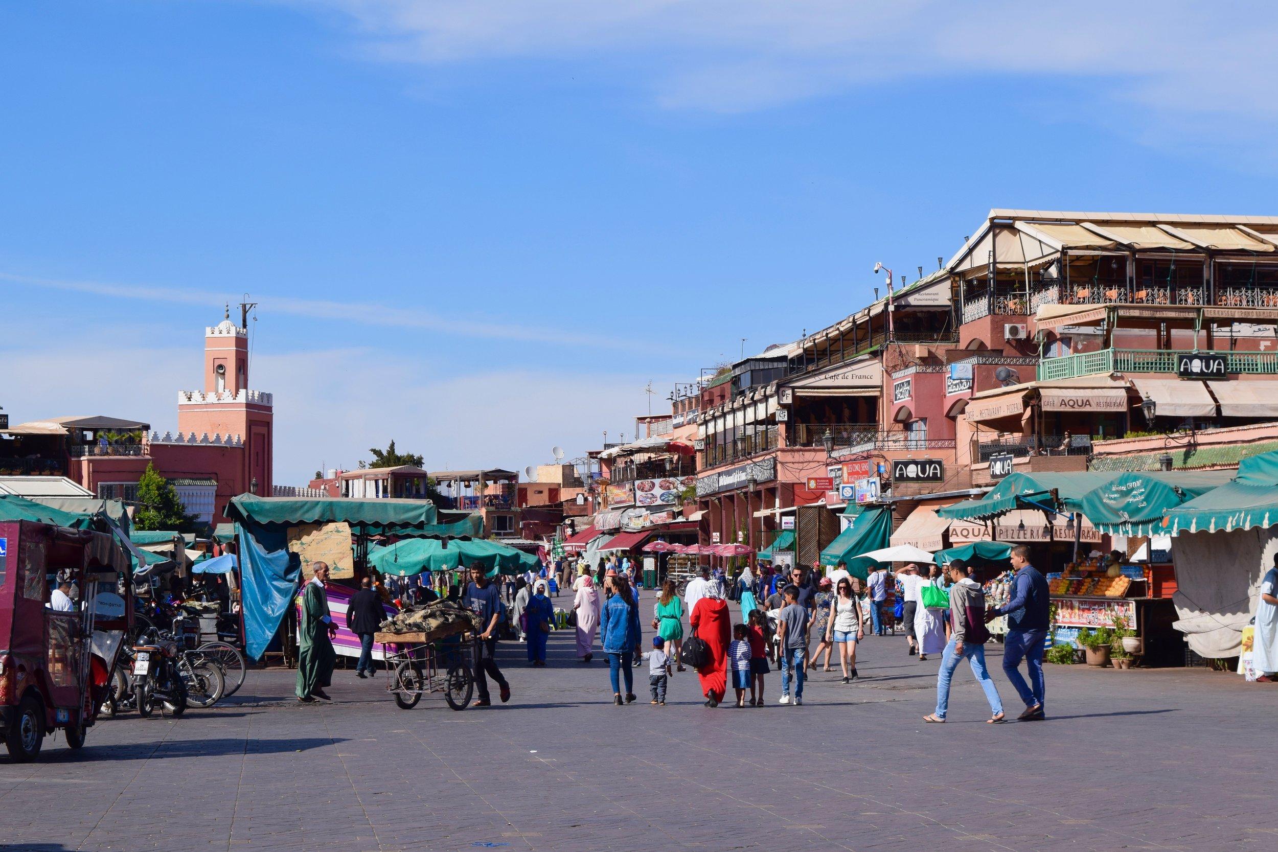 Market in Jemaa el-Fna square