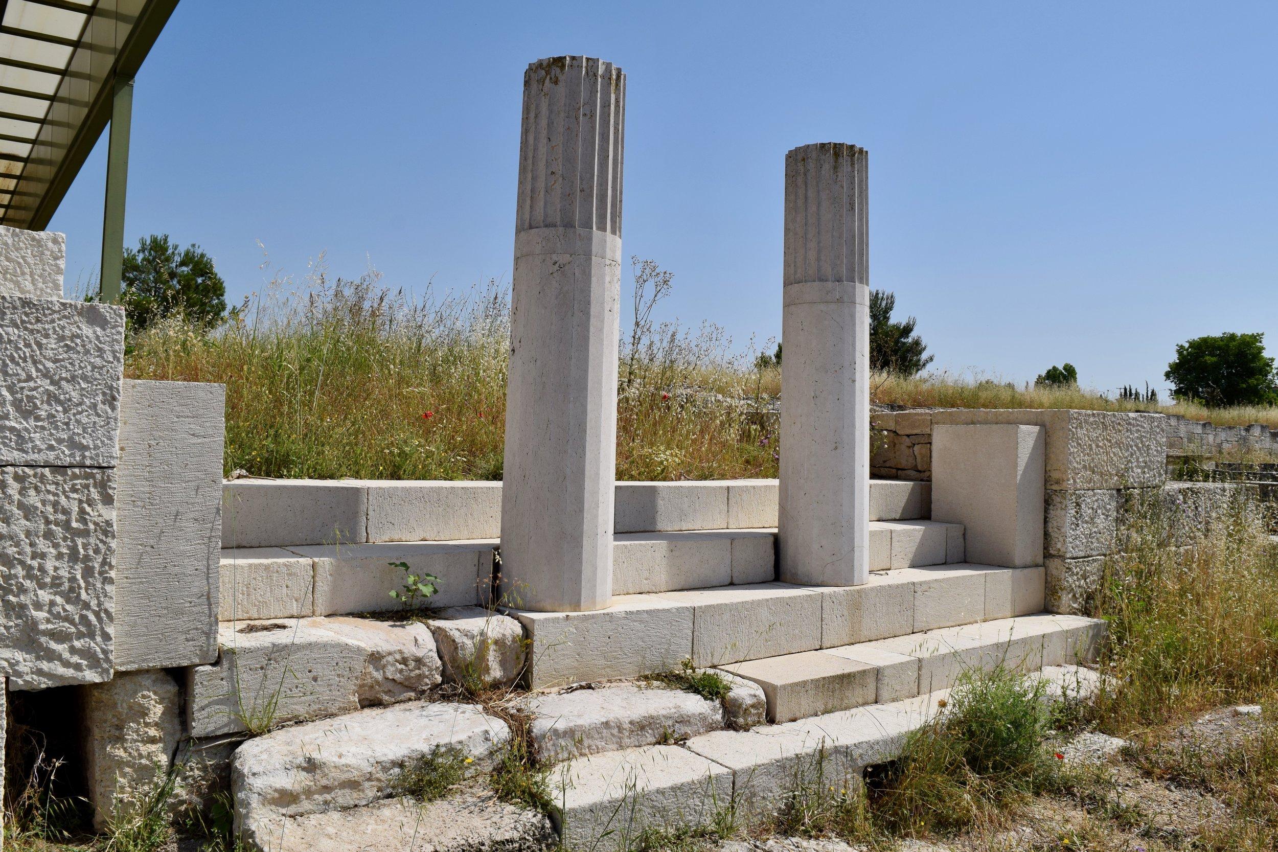 Remains near the Agora