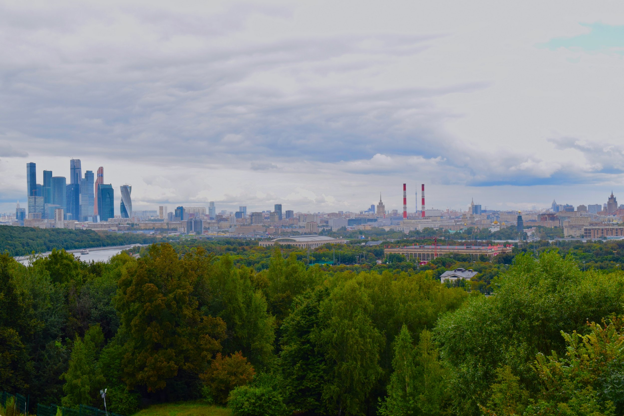 View of Moscow from Vorobyovy Gory