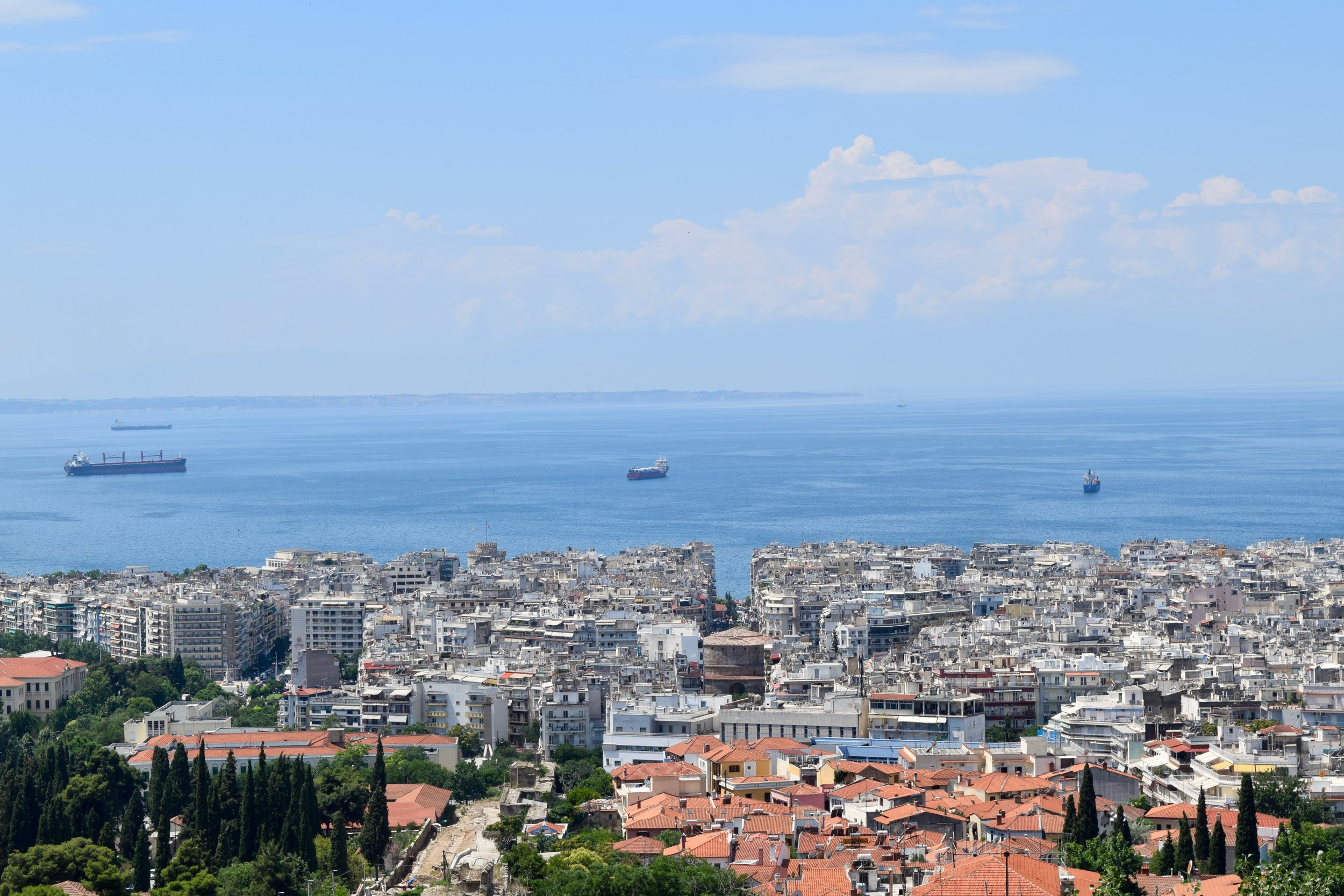 Views of Thessaloniki from the upper town
