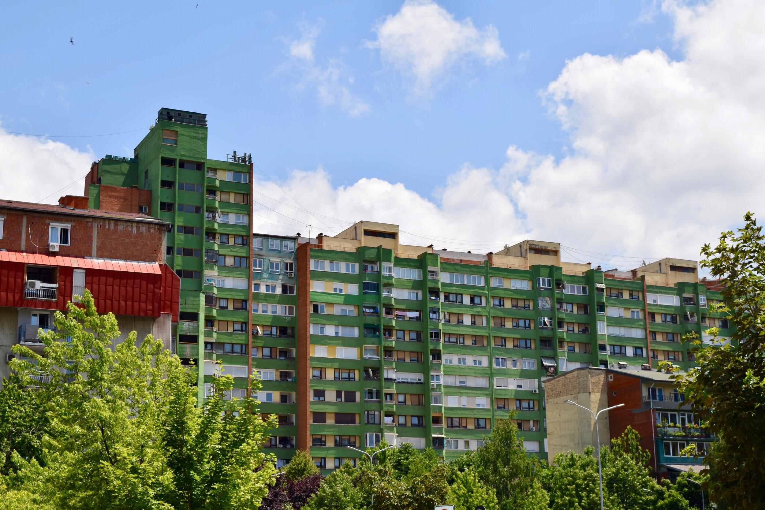 Communist buildings in Pristina