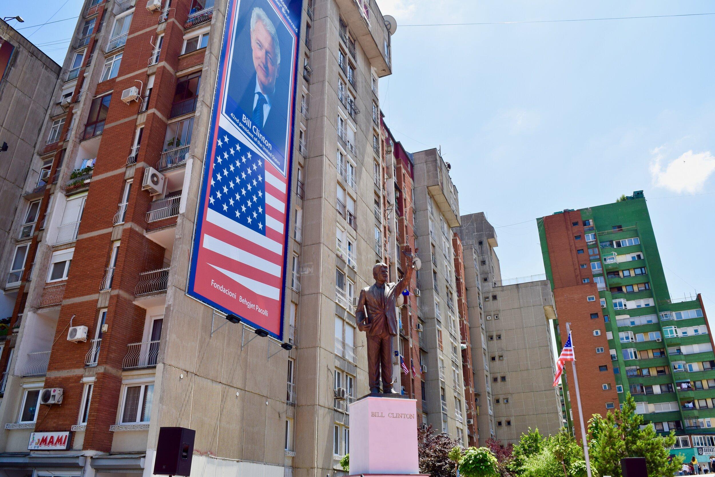 Bill Clinton Boulevard in Pristina