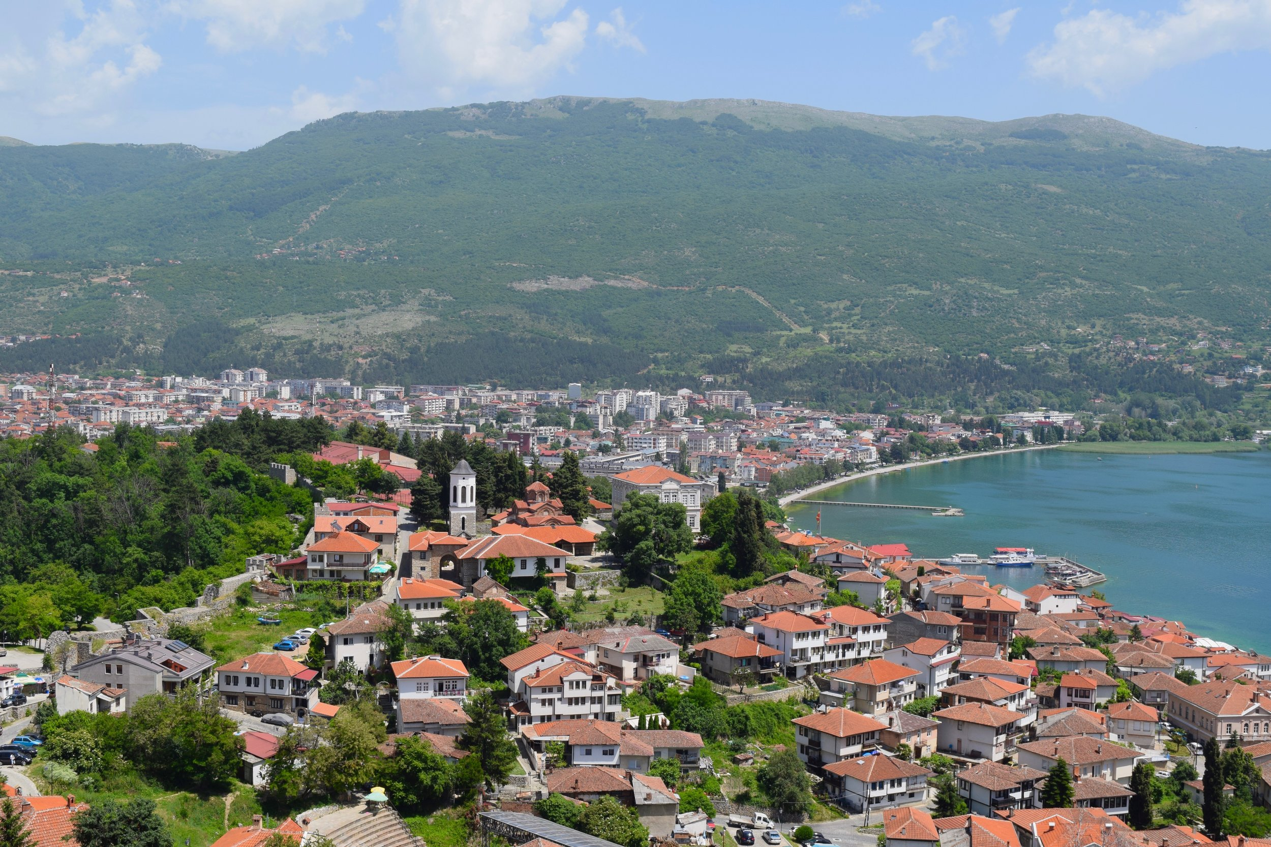 View from the fortress of Ohrid