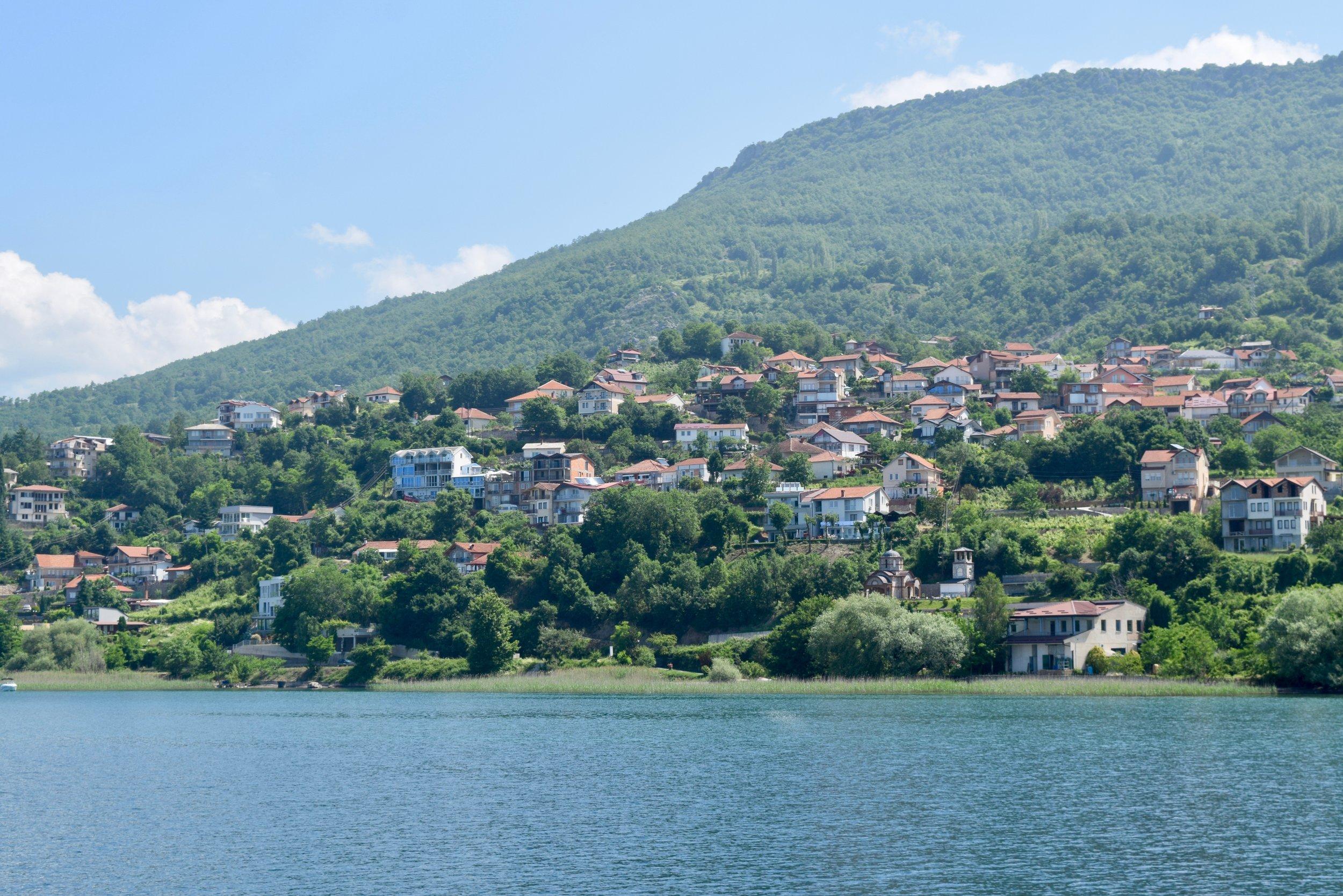 Houses on Lake Ohrid