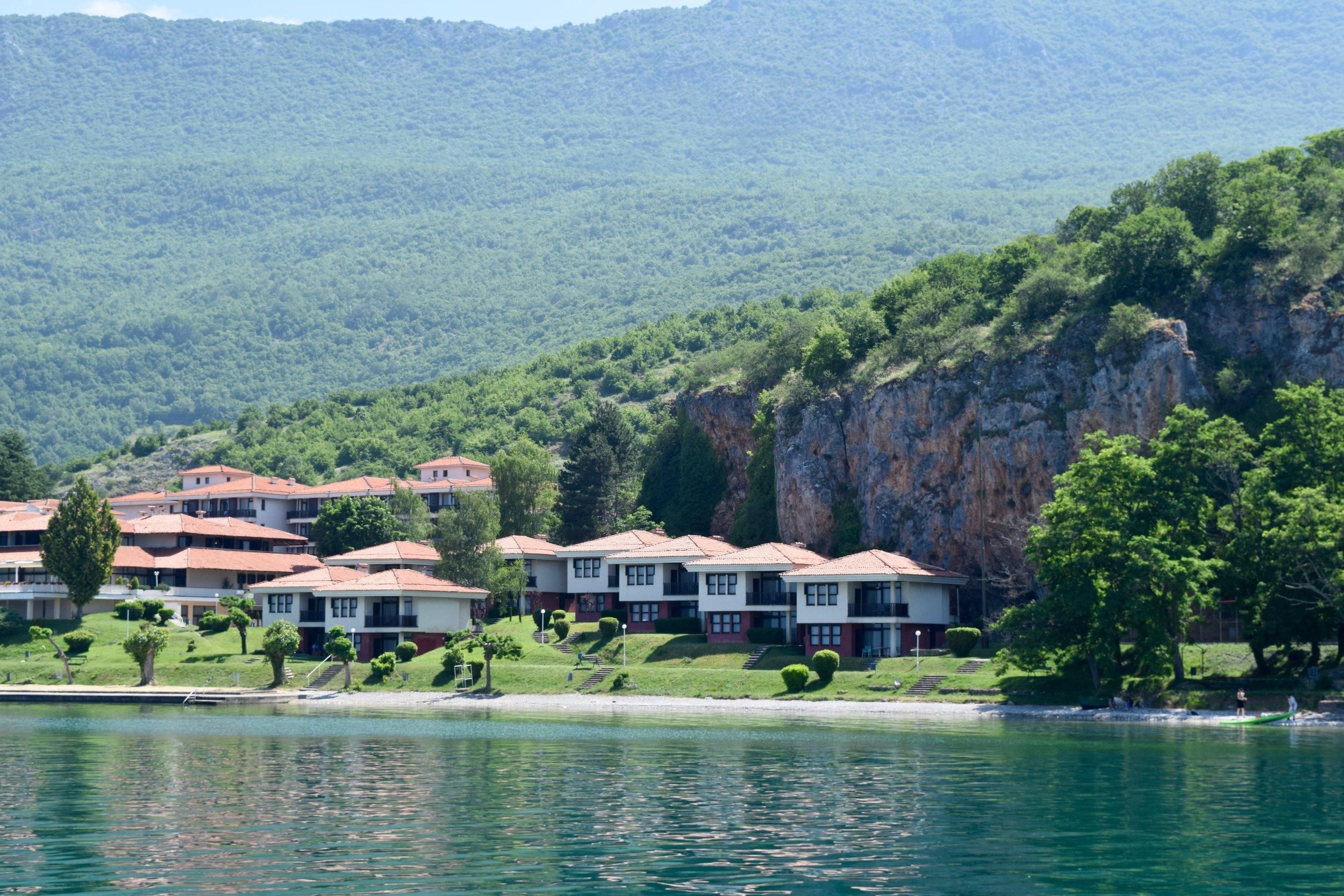Houses near a cliff