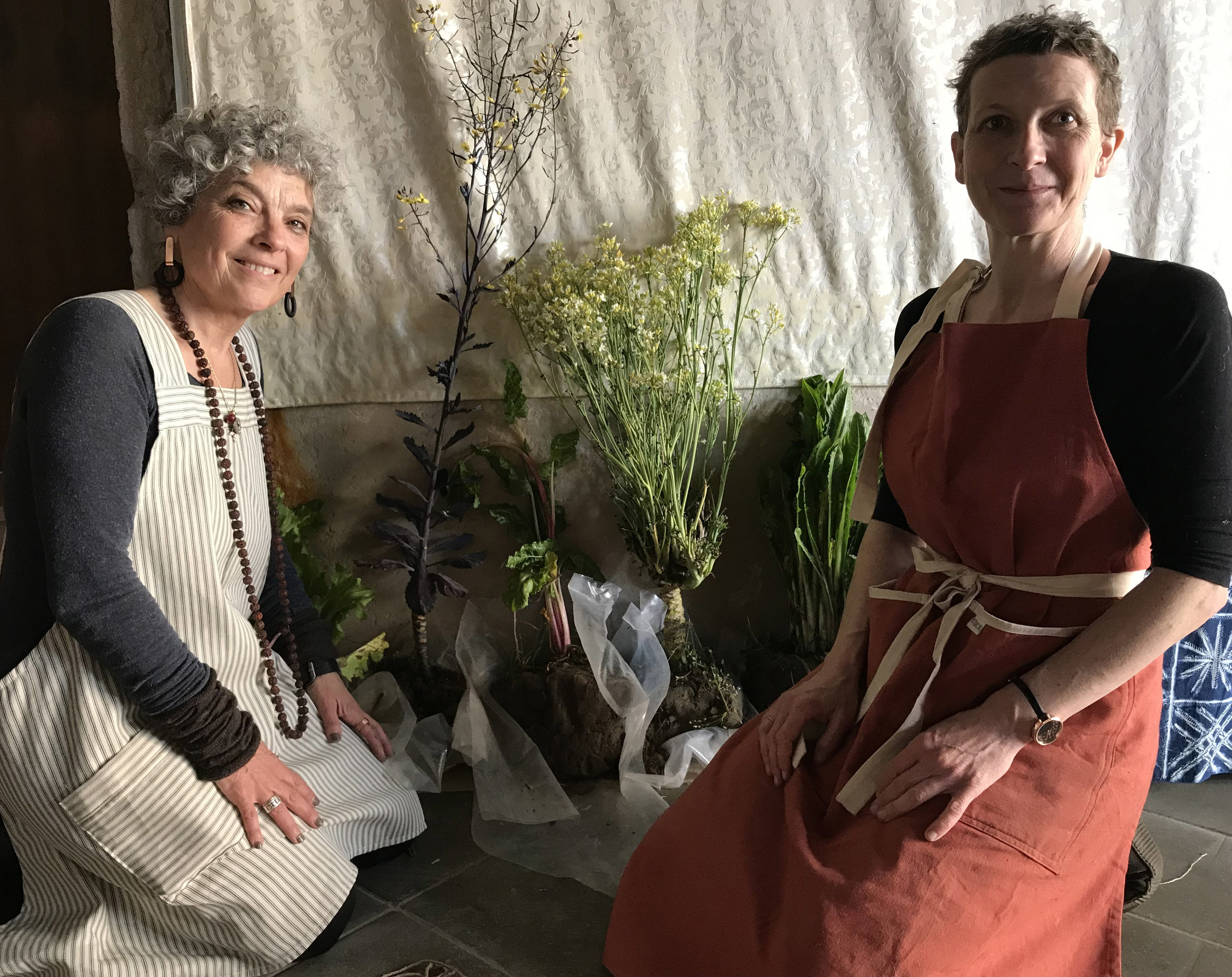Miche Fabre Lewin and Flora Gathone-Hardy of Touchstones