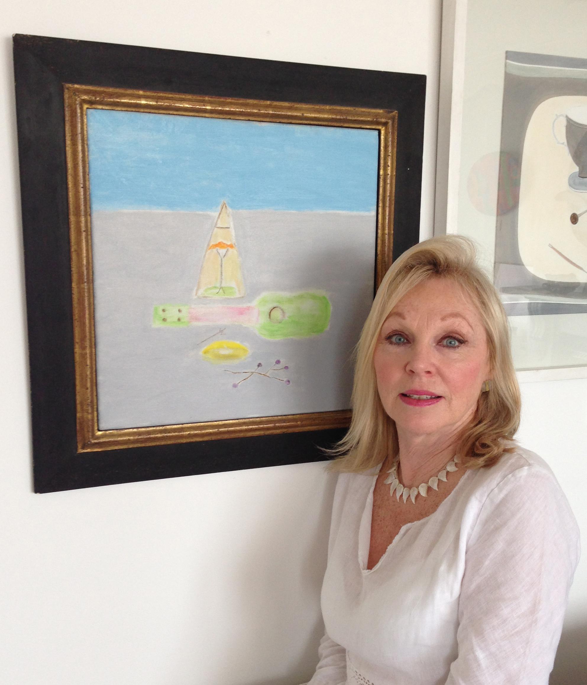 Caroline Wiseman at the art house, aldeburgh beach