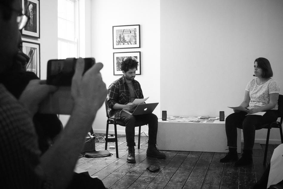 Rowan Evans & Leire Barrera, diisonance, Bank Street Arts
