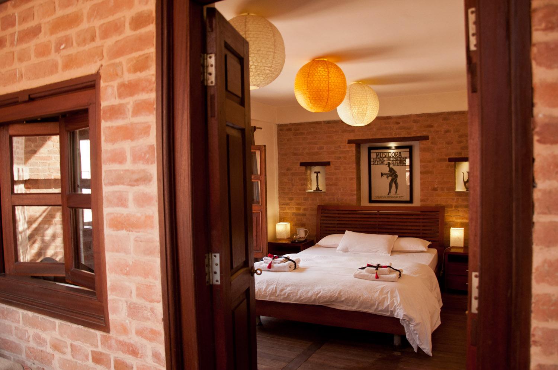 Bedroom view from entrance door.