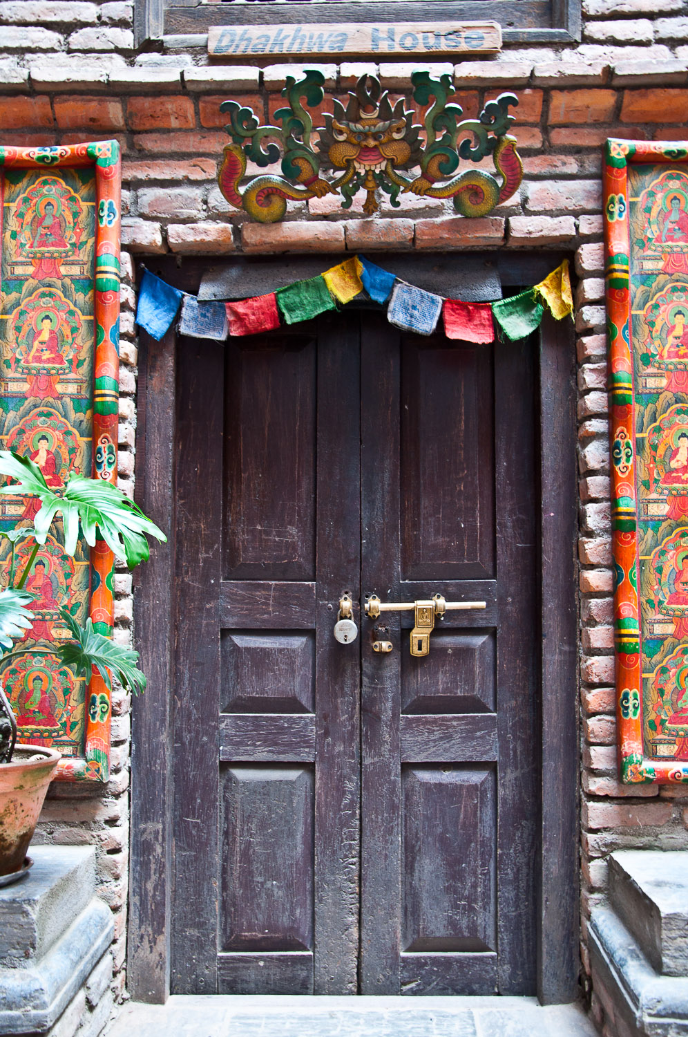 Entrance door to Dhakhwa house