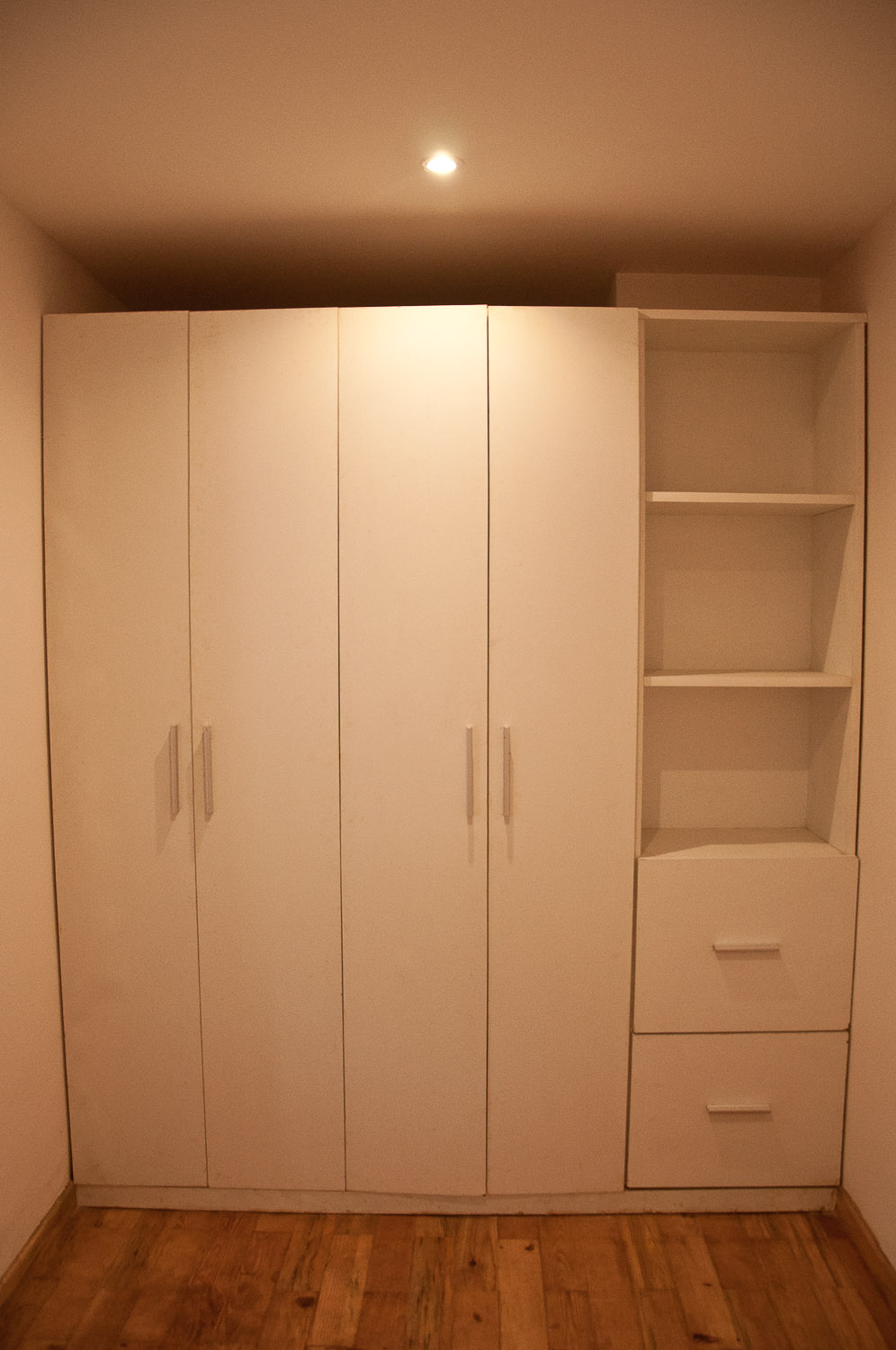 Cupboard to store your clothes, bed sheets or towels.