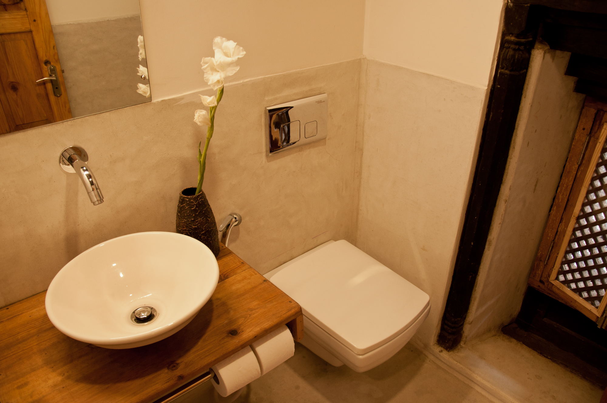 Bathroom and sink.
