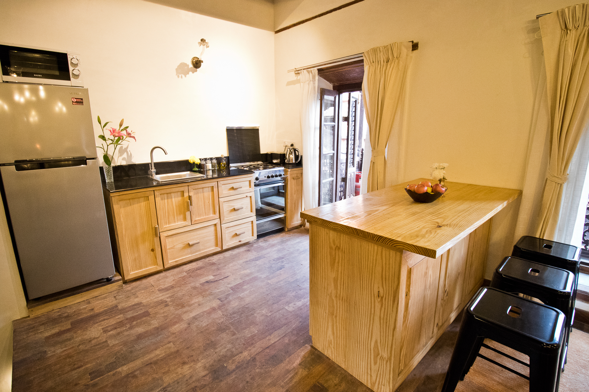 Here is the kitchen set up at Imperial Duplex.