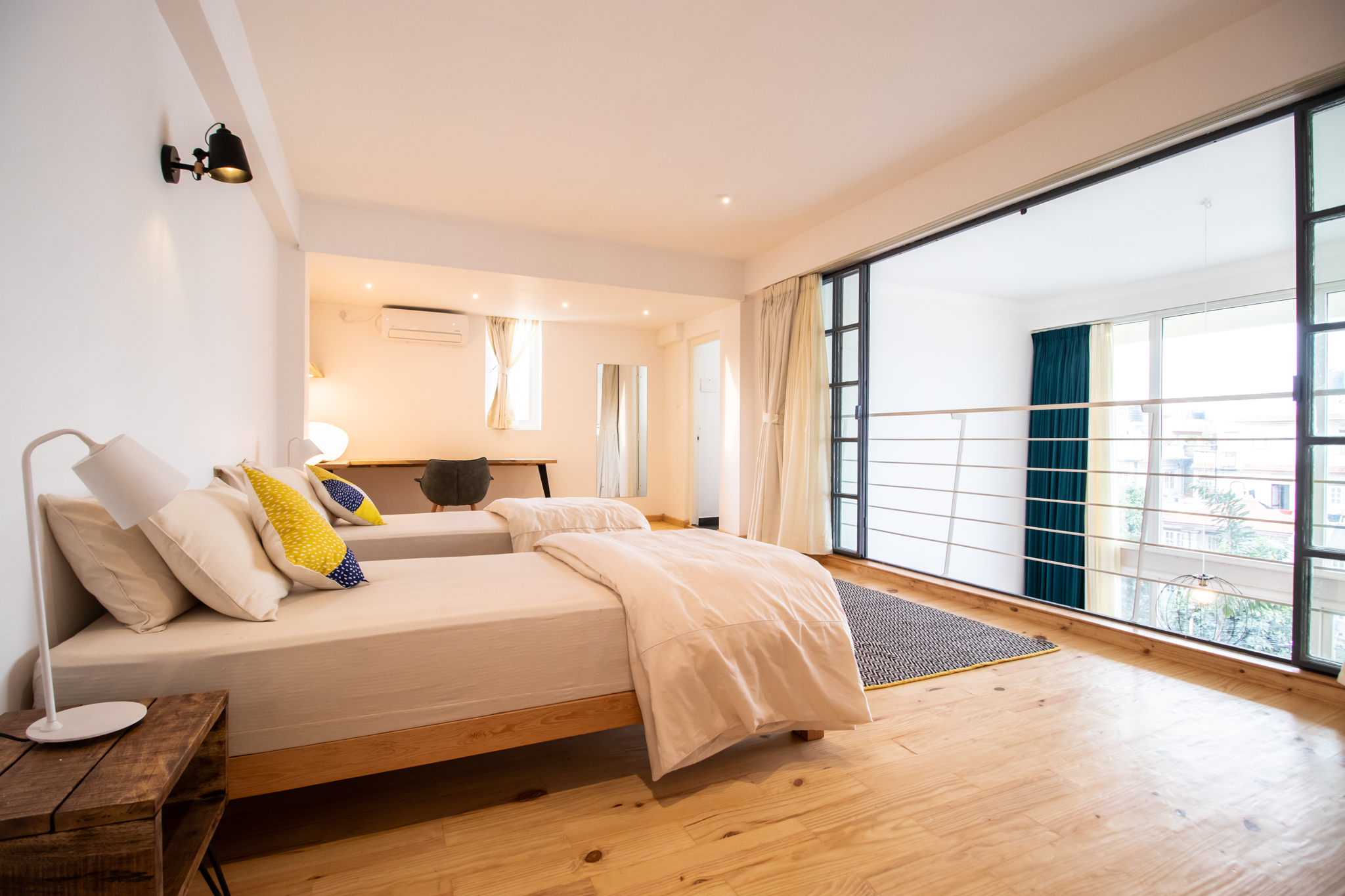 Twin bedroom on the second floor.