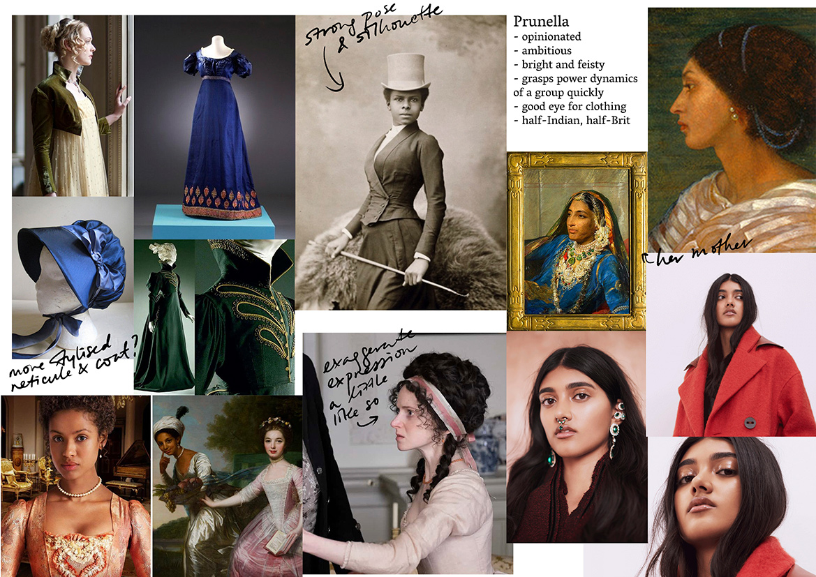 Inspiration board for Prunella Gentleman (you can't beat this name).