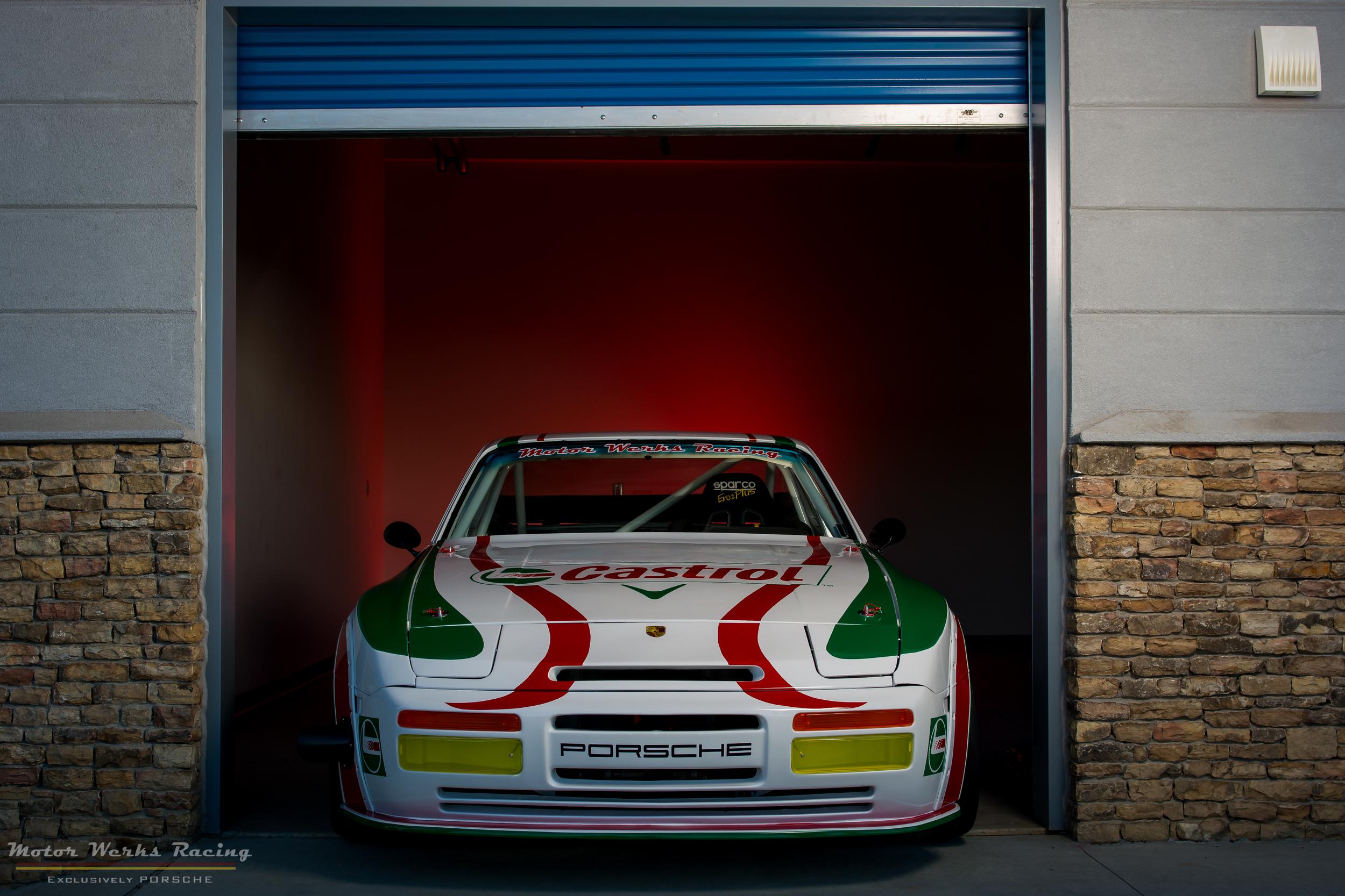Porsche 944 Turbo Castrol Tribute at our Atlanta Motorsports Park Garages
