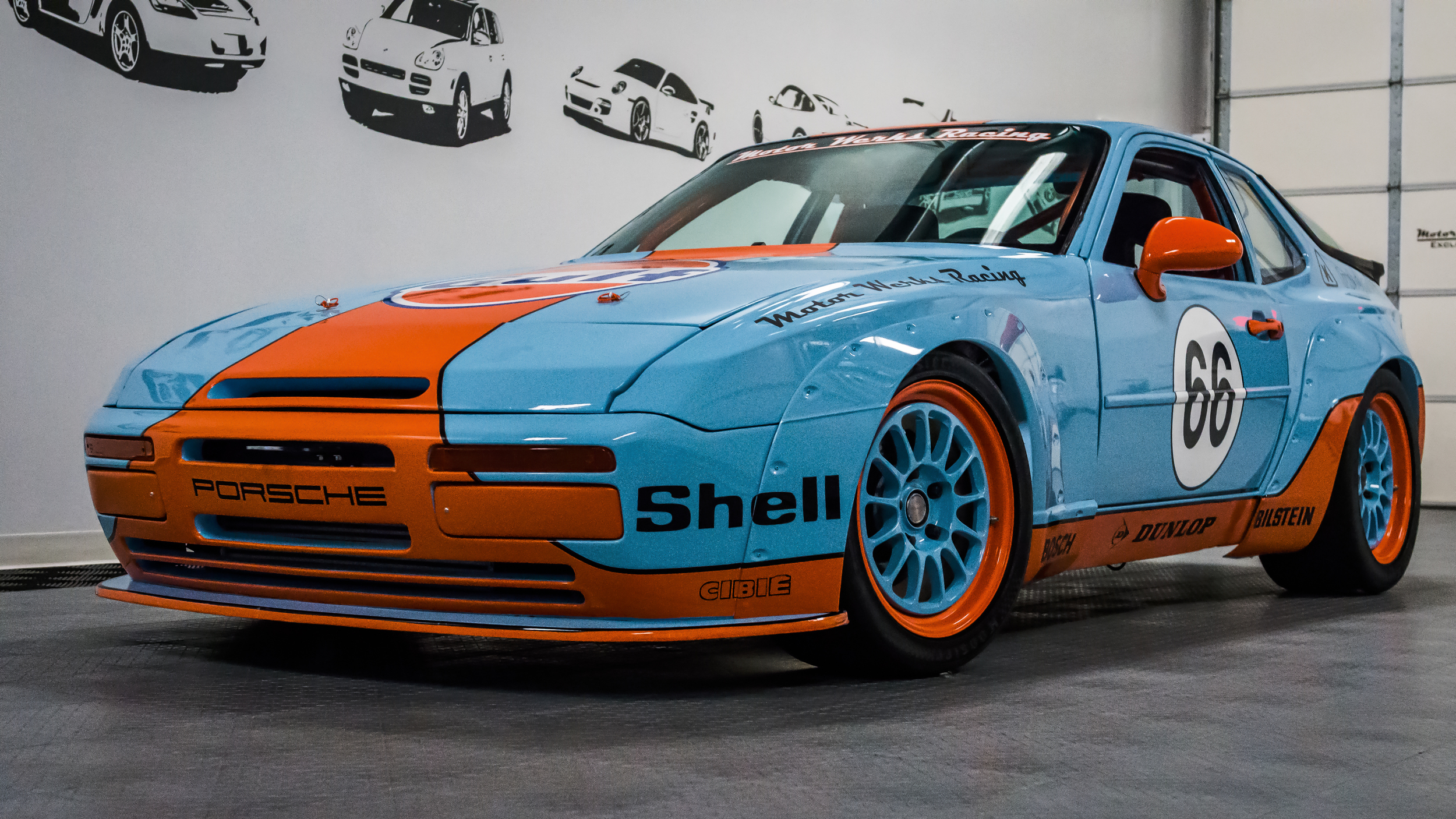 Motor Werks Racing Porsche 944 Gulf Tribute powered with our 1.8T Engine Conversion