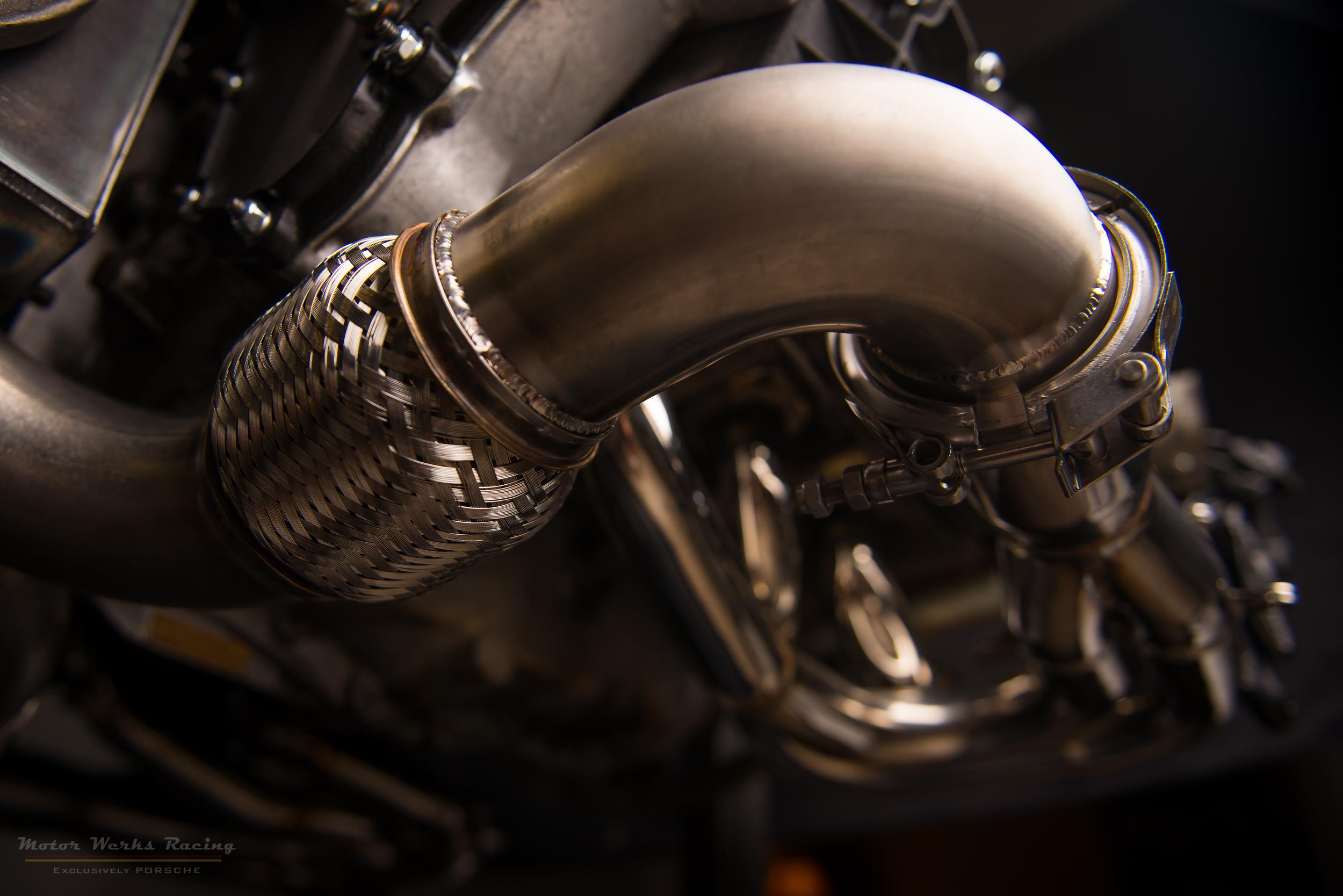 Porsche Custom Header & Exhaust