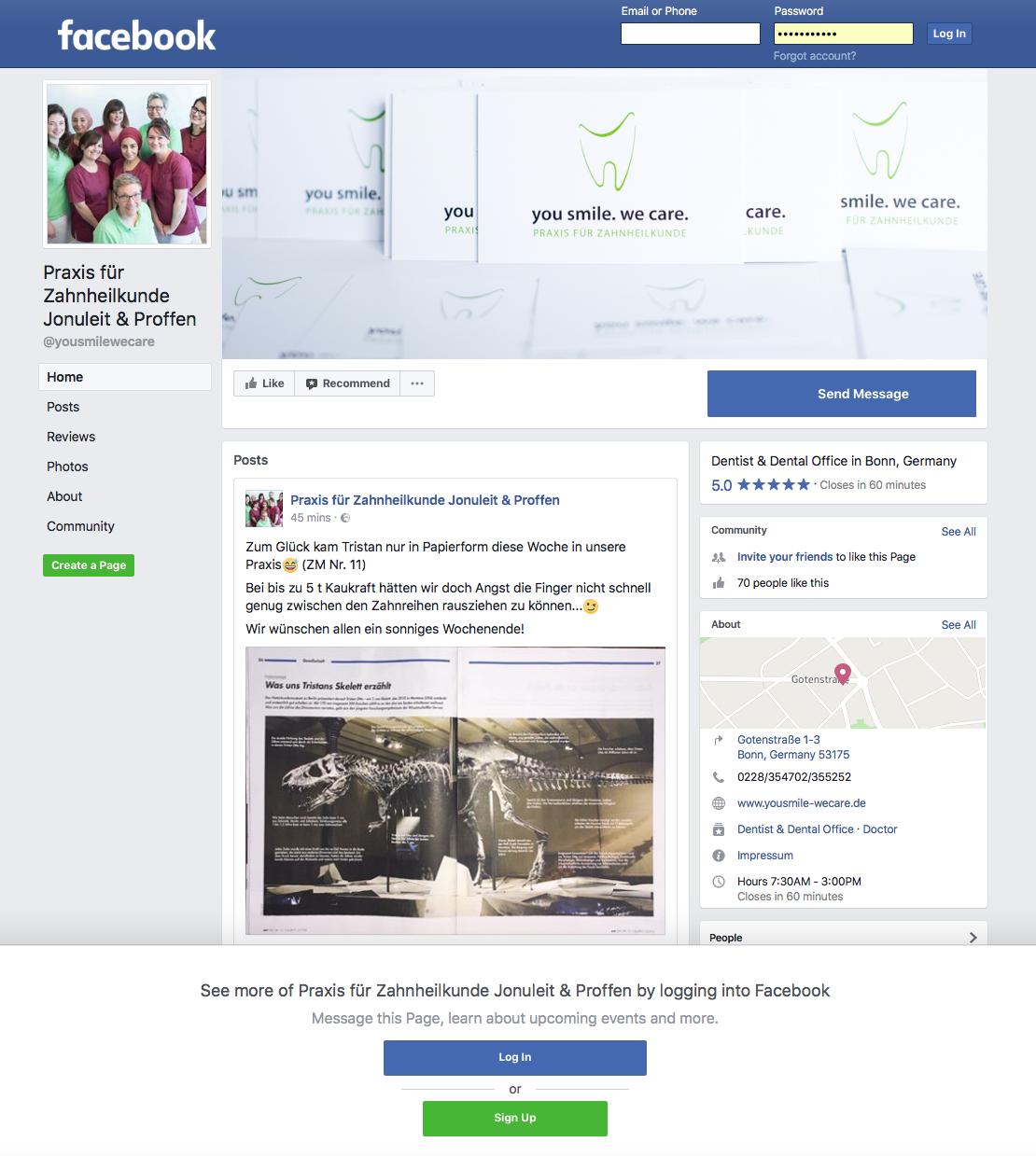 Praxis facebook page