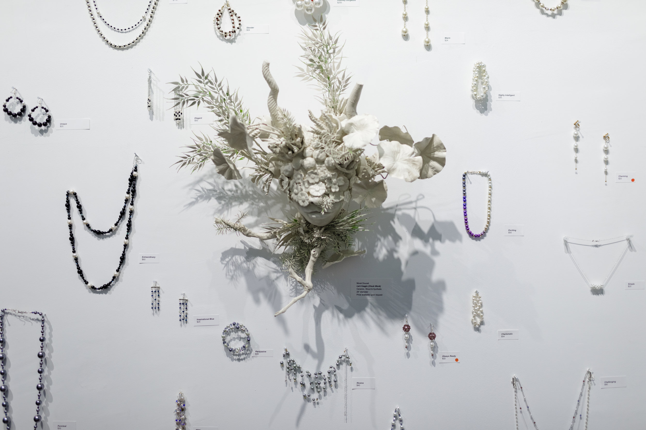 Photo from last year's event at Northwyn Studios, Origins: Mother & Nature, in collaboration with ceramist Morel Doucet.