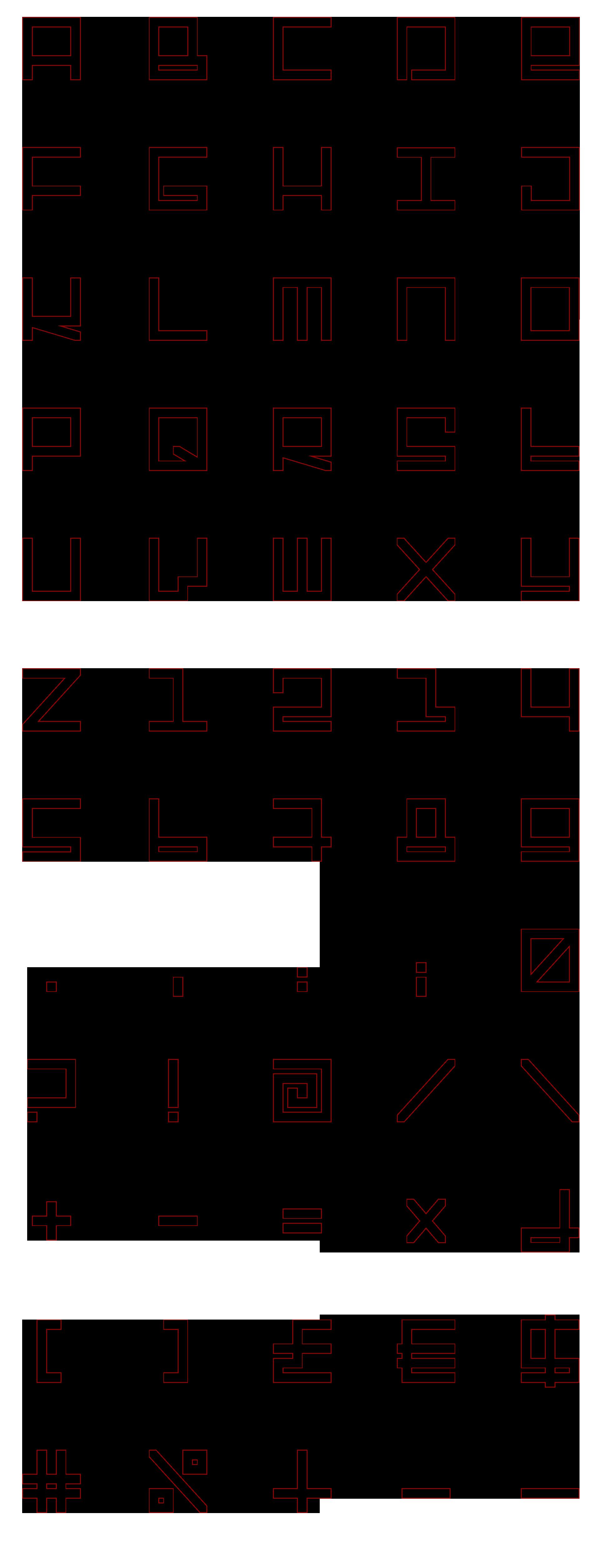 vlevle-gamatik-typography-outline