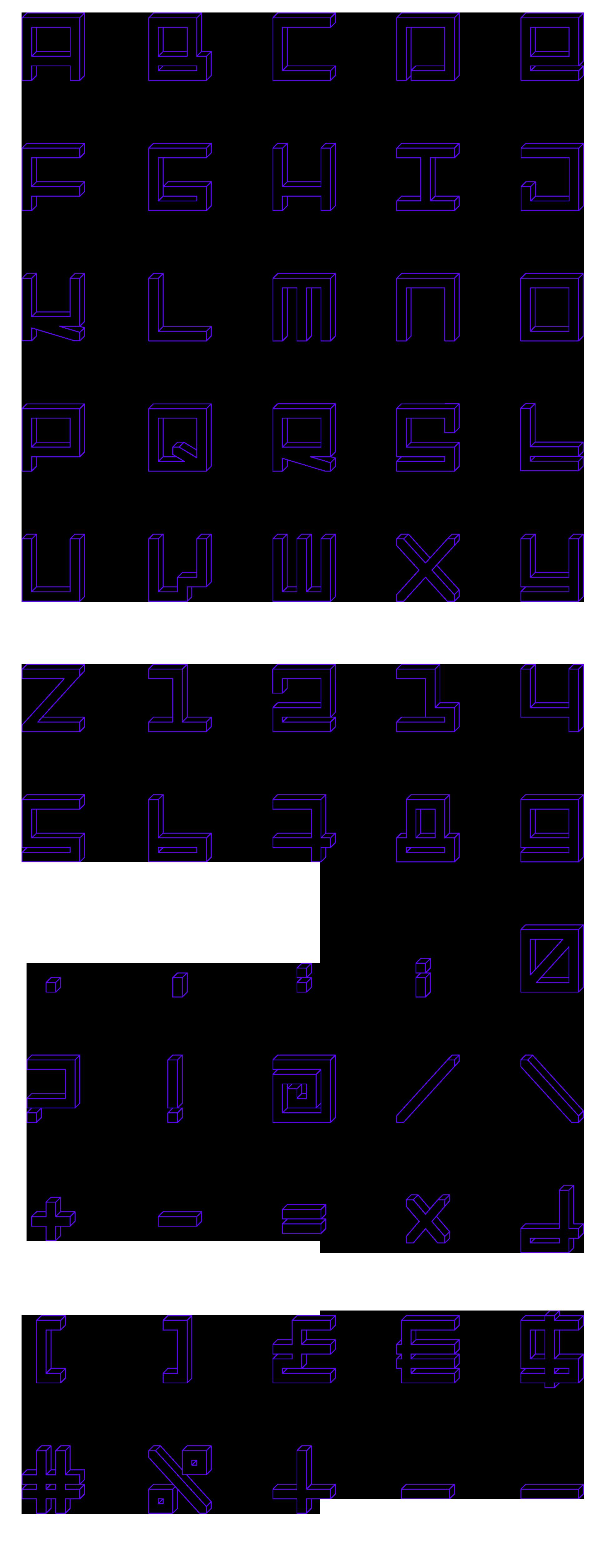 vlevle-gamatik-typography-3D-line