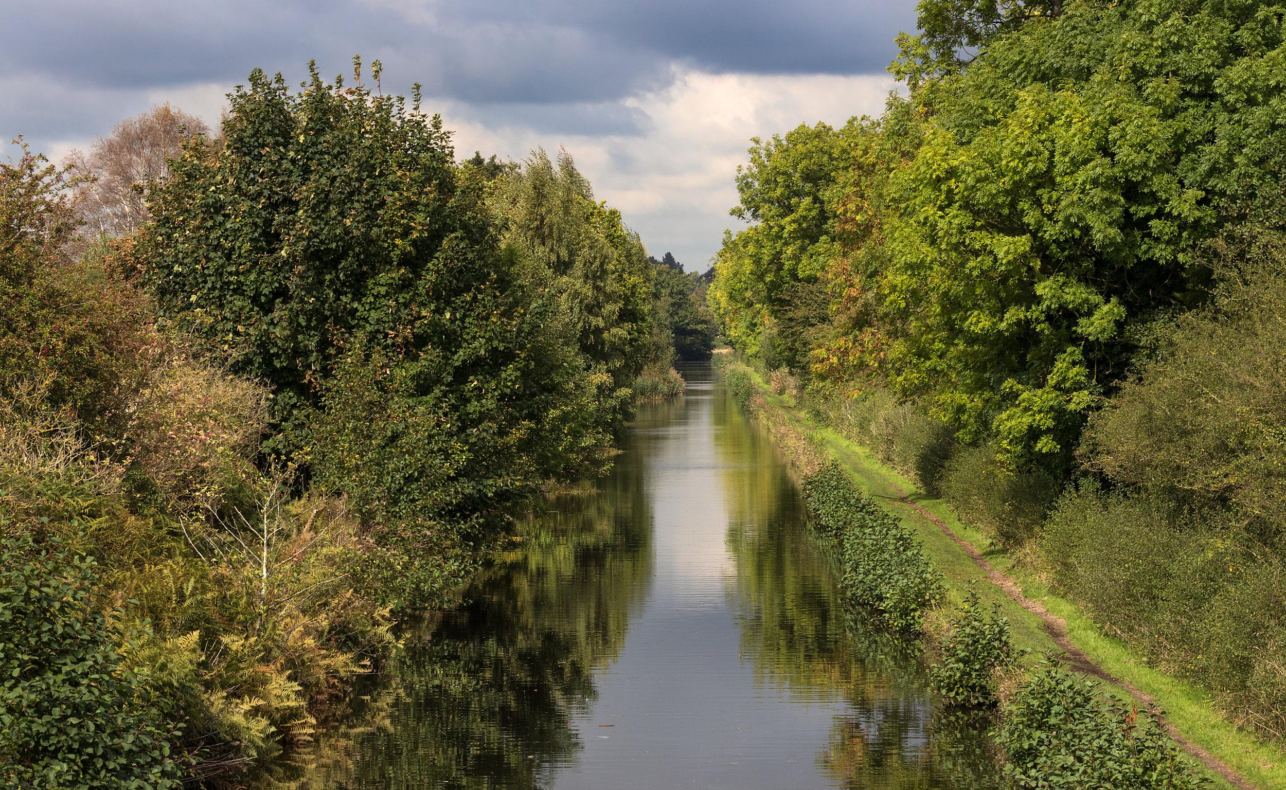 Birmingham & Fazeley Canal at RSPB Middleton Lakes