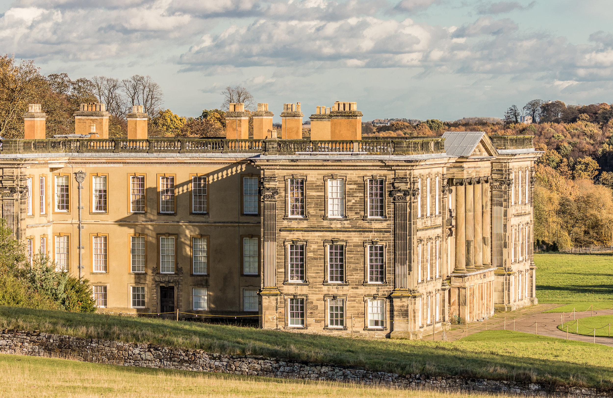 A view of Calke Abbey