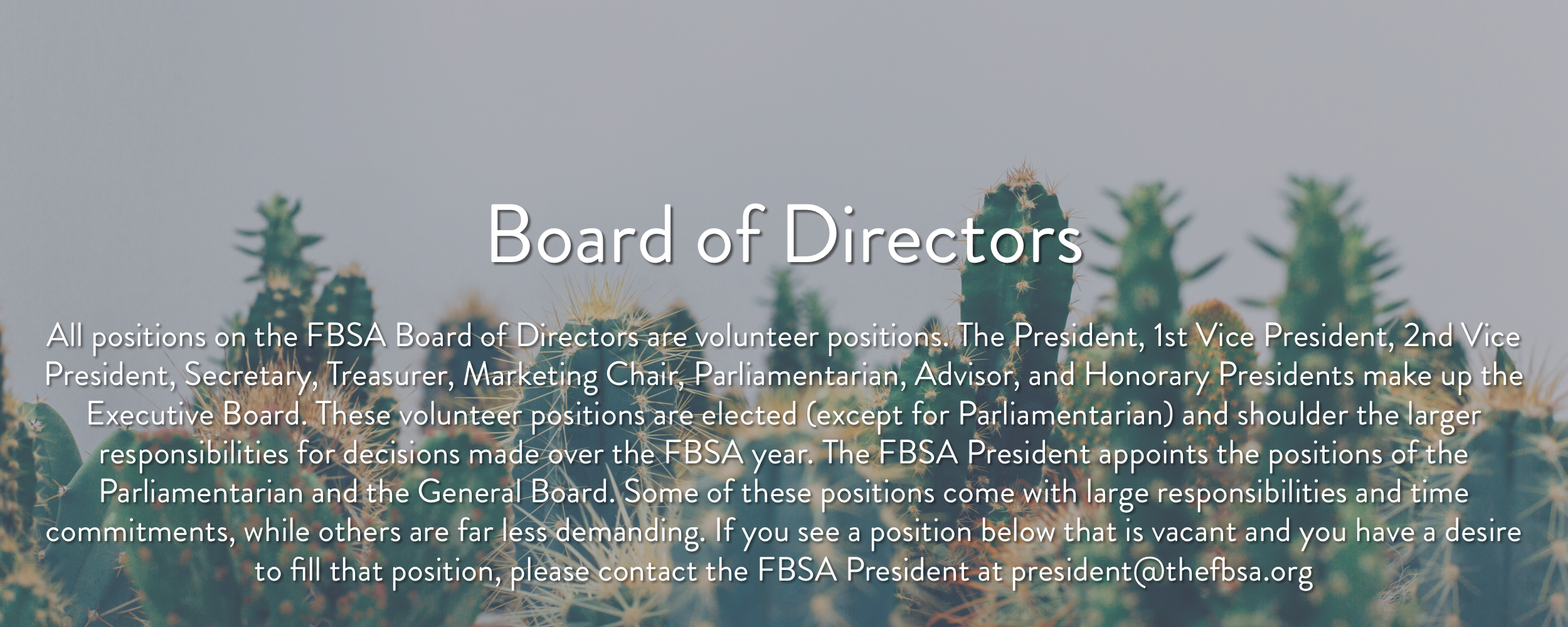 If you wish to contact a particular member of our Board of Directors, please  visit our Contact page .