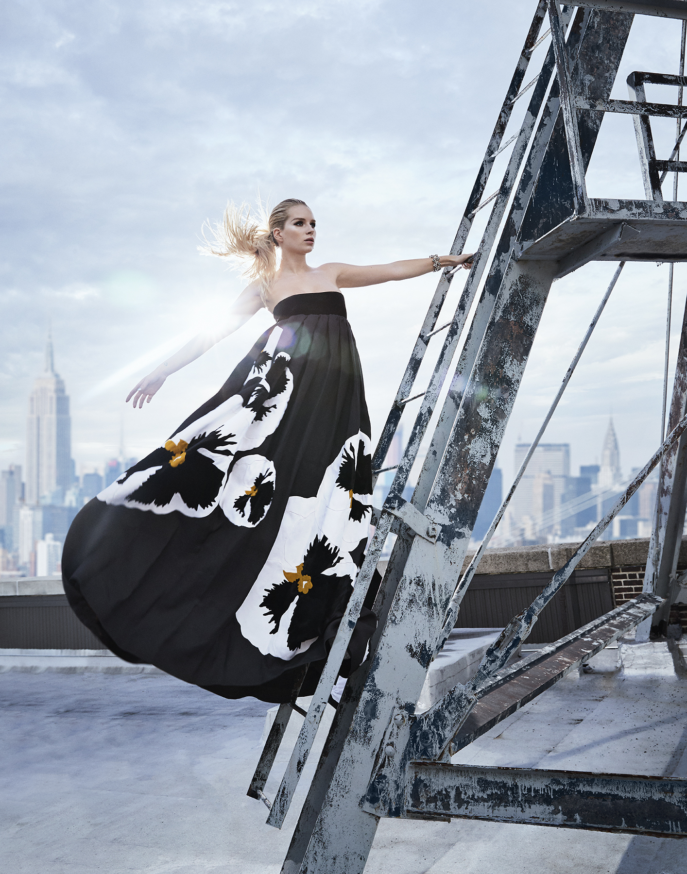In the Heights - In this editorial, the energy and optimism of New York City provided the backdrop for the Fall 2018 couture collections.