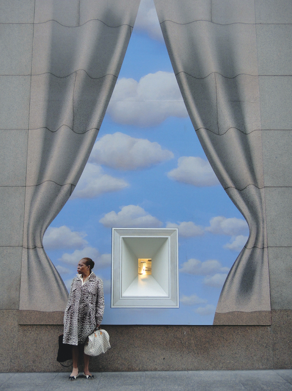 Just an illusion - Tiffany locks, and the secrets and mysteries they hold, inspired these Magritte motif launch windows.