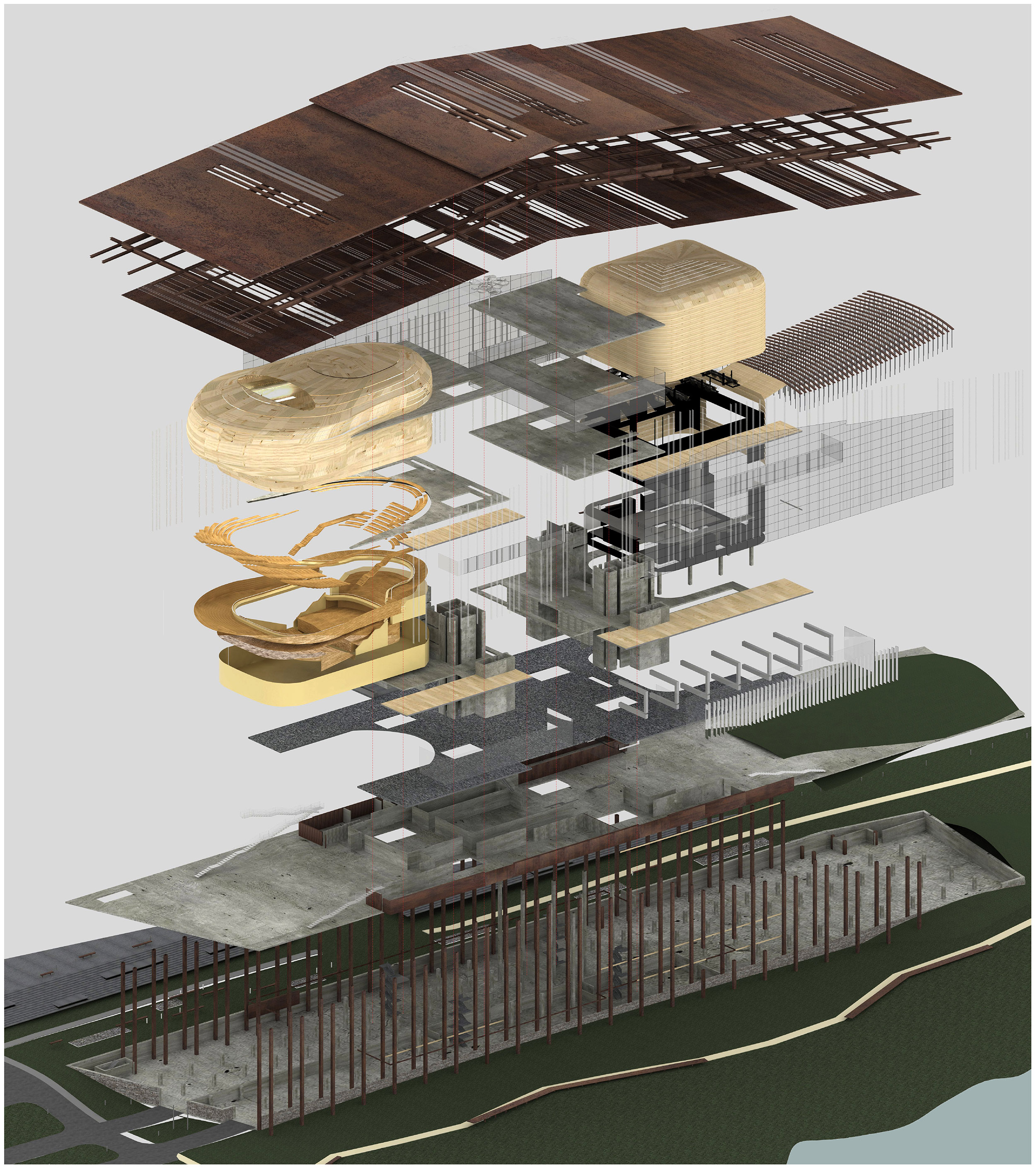 Exploded Axonometric View.