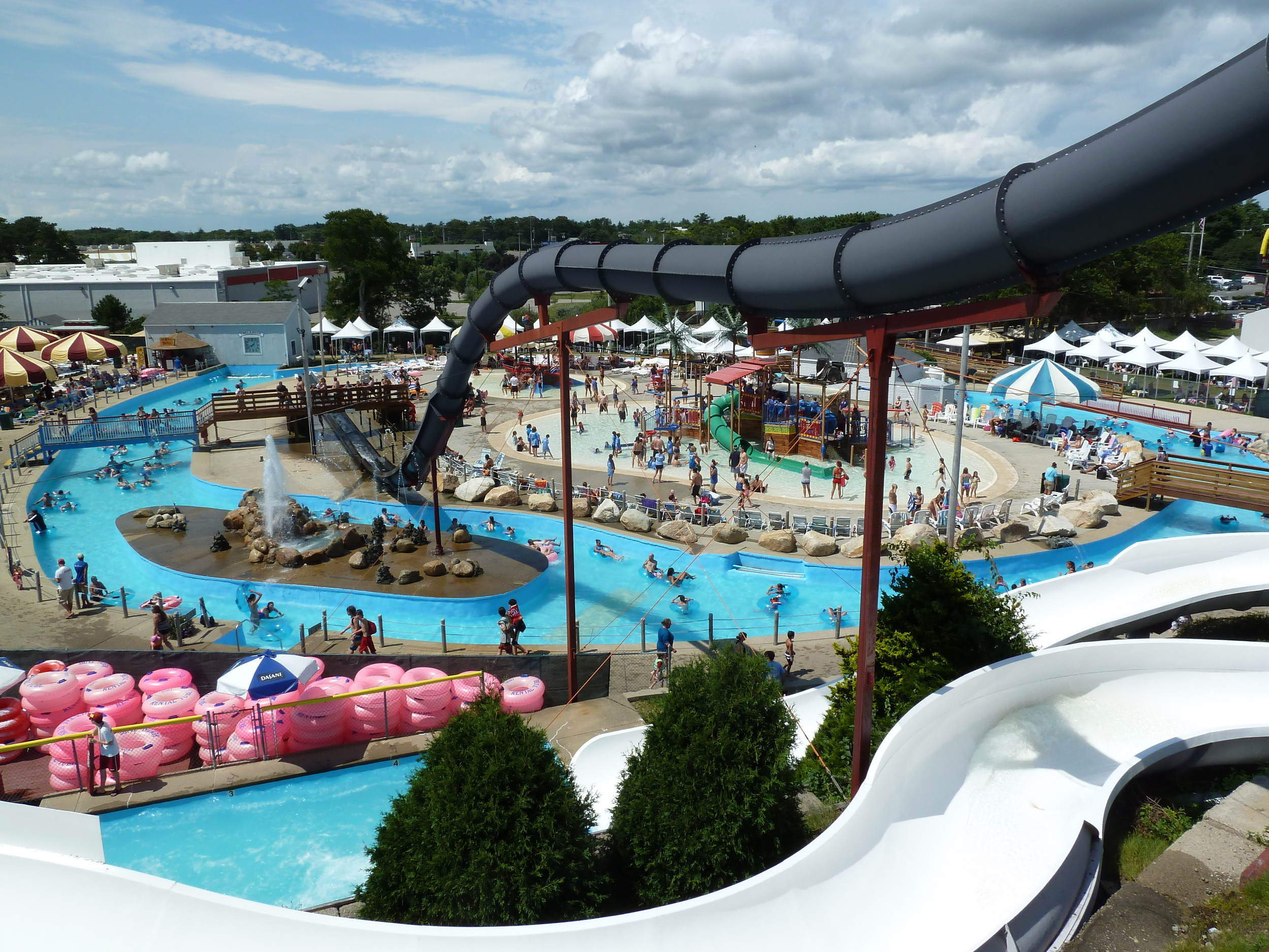 "Water Wizz, touted as ""Cape Cod's only water park"", is a family-owned water park located in East Wareham, Massachusetts and attracting about 100,000 visitors yearly"