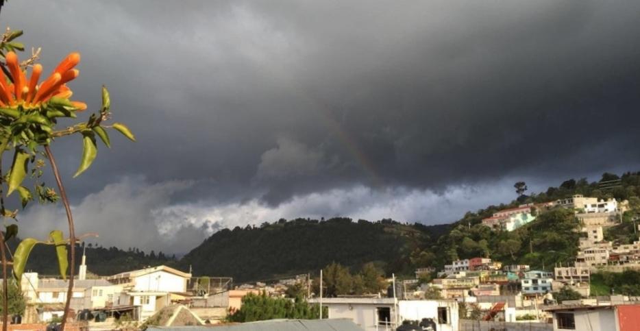 Rainbow over downtown Xela