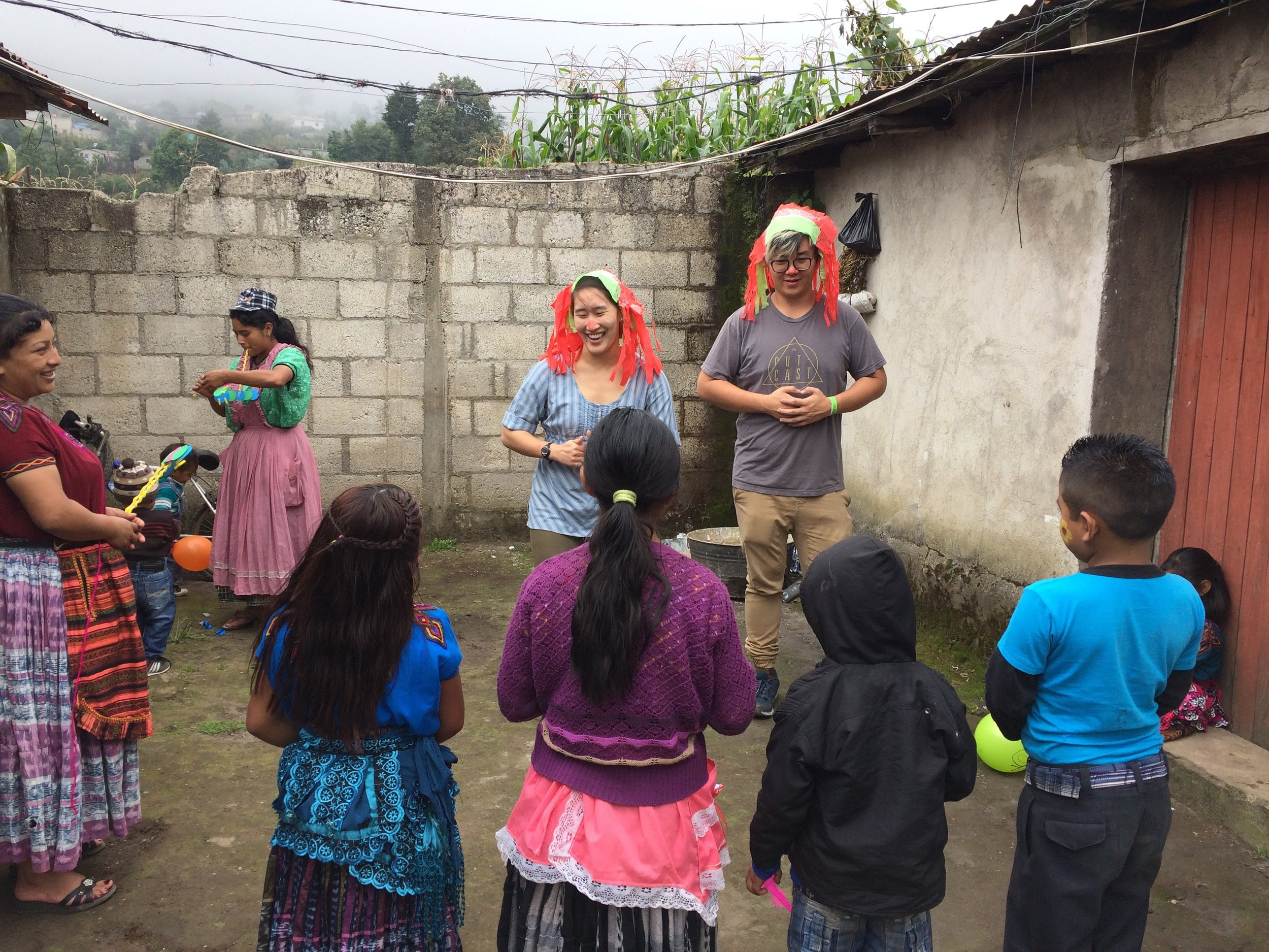 Joyce helping out Primeros Pasos with a celebration for Día Mundial de Alimentacion (World Food Day)