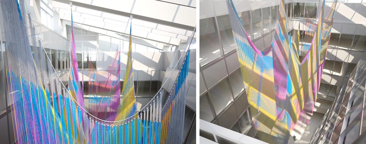 Installation previsualization for Ball-Nogues Studio