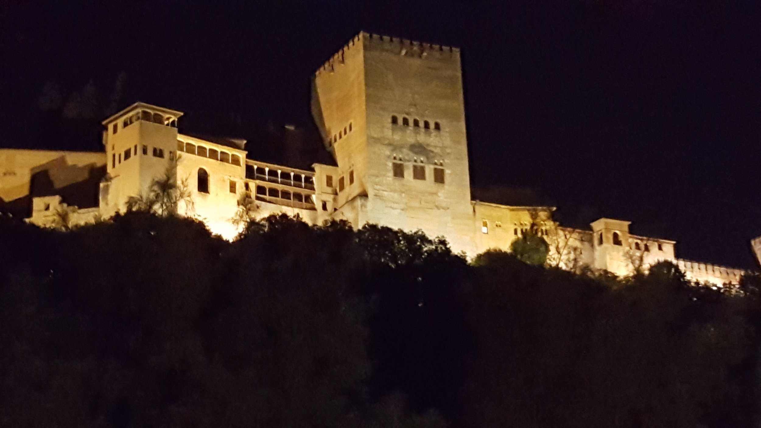 Alhambra Palace at night