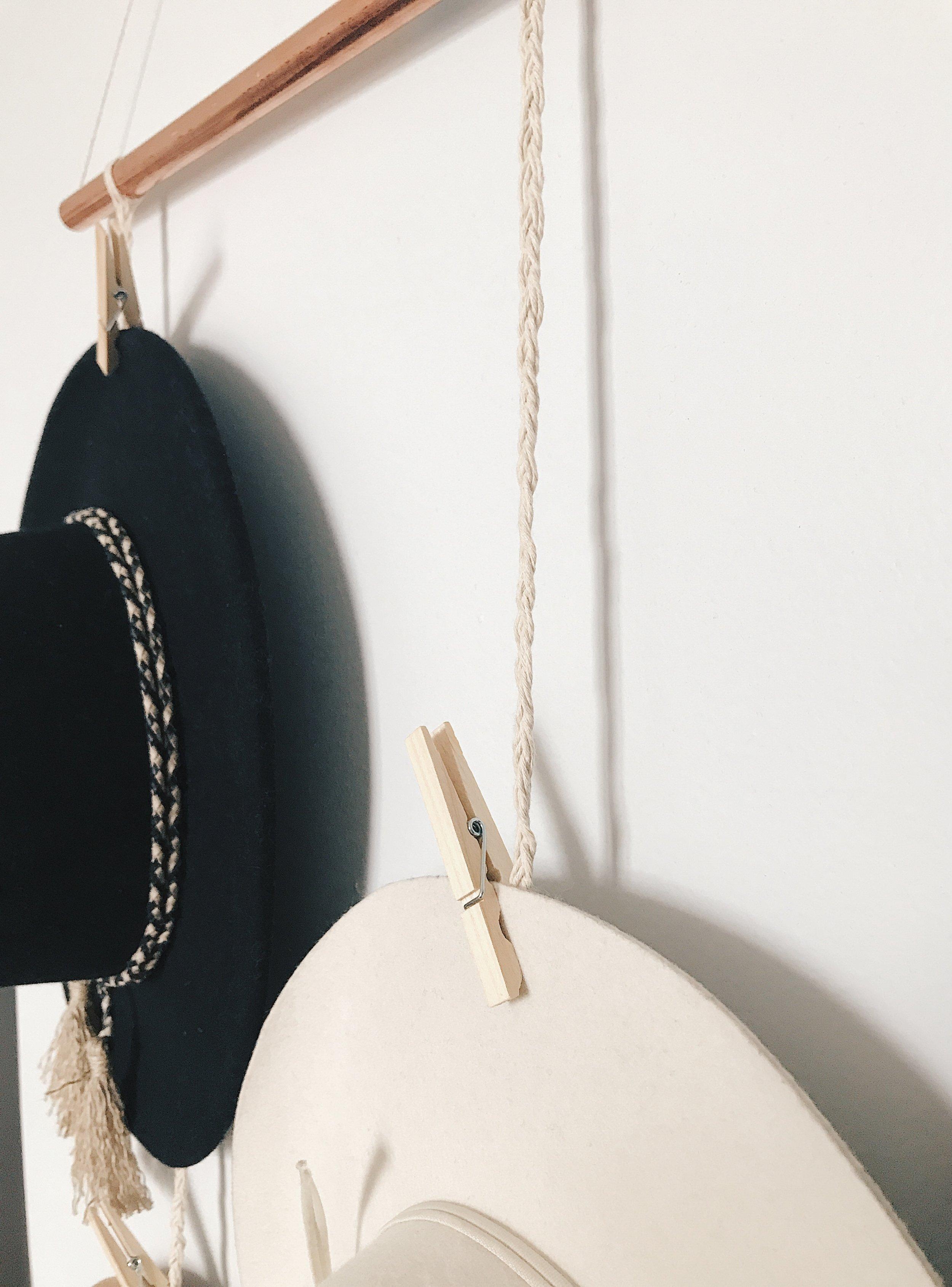 DIY copper hanging hat rack.JPG