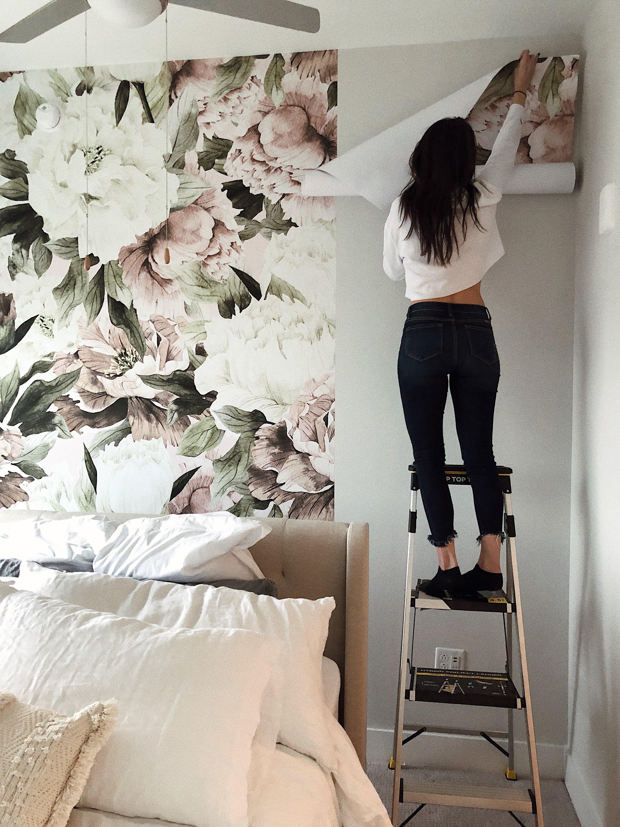 wallpaper installation peony.JPG