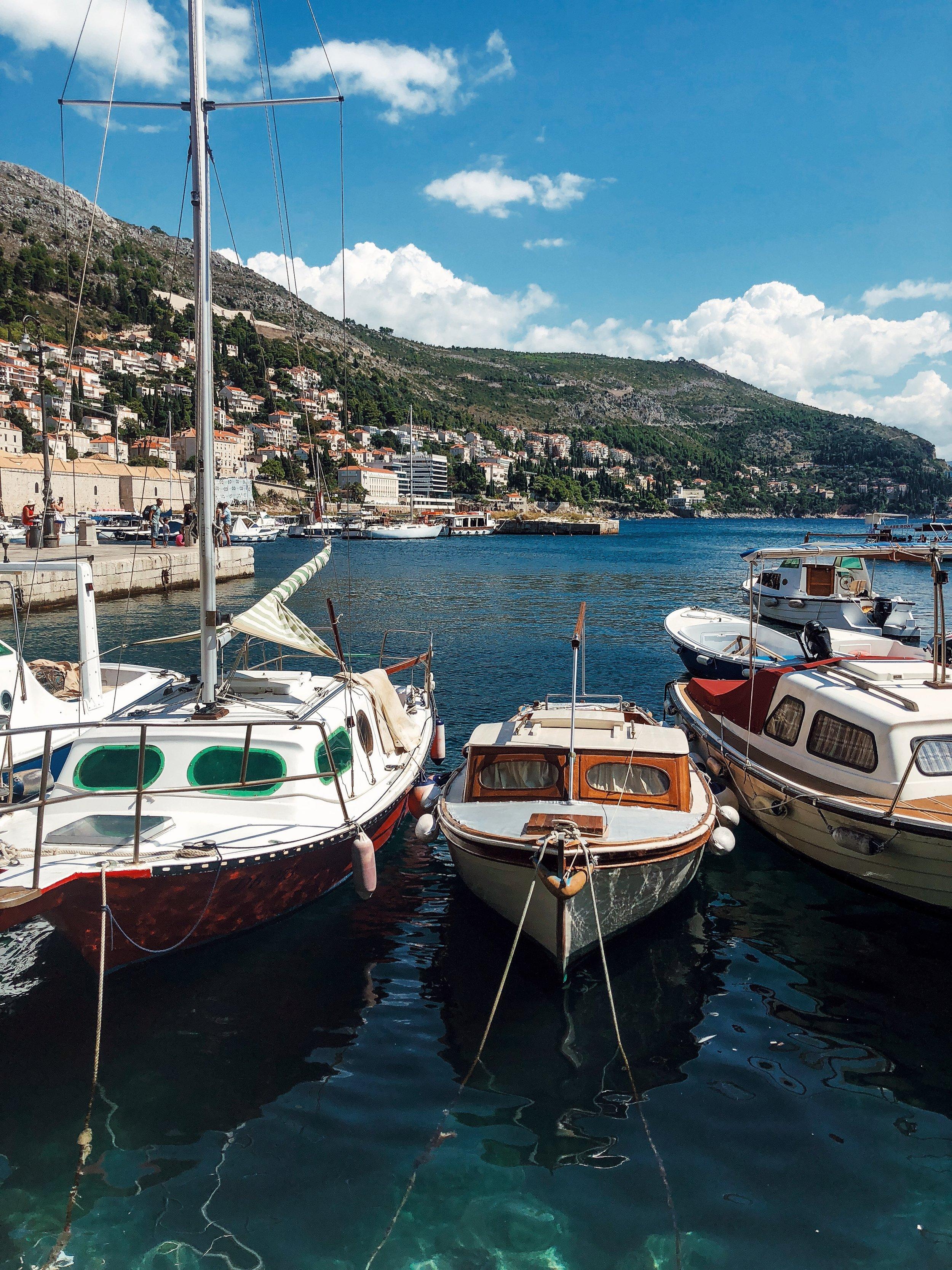 hvar port boats.JPG