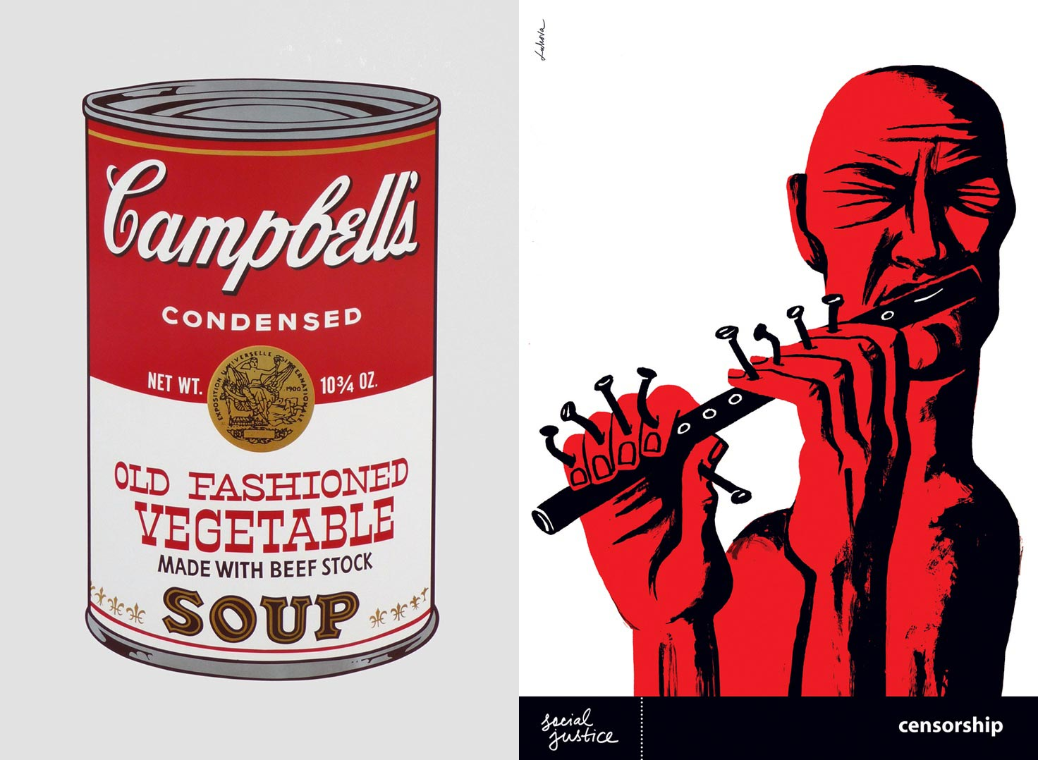 Andy Warhol and Luba Lukova