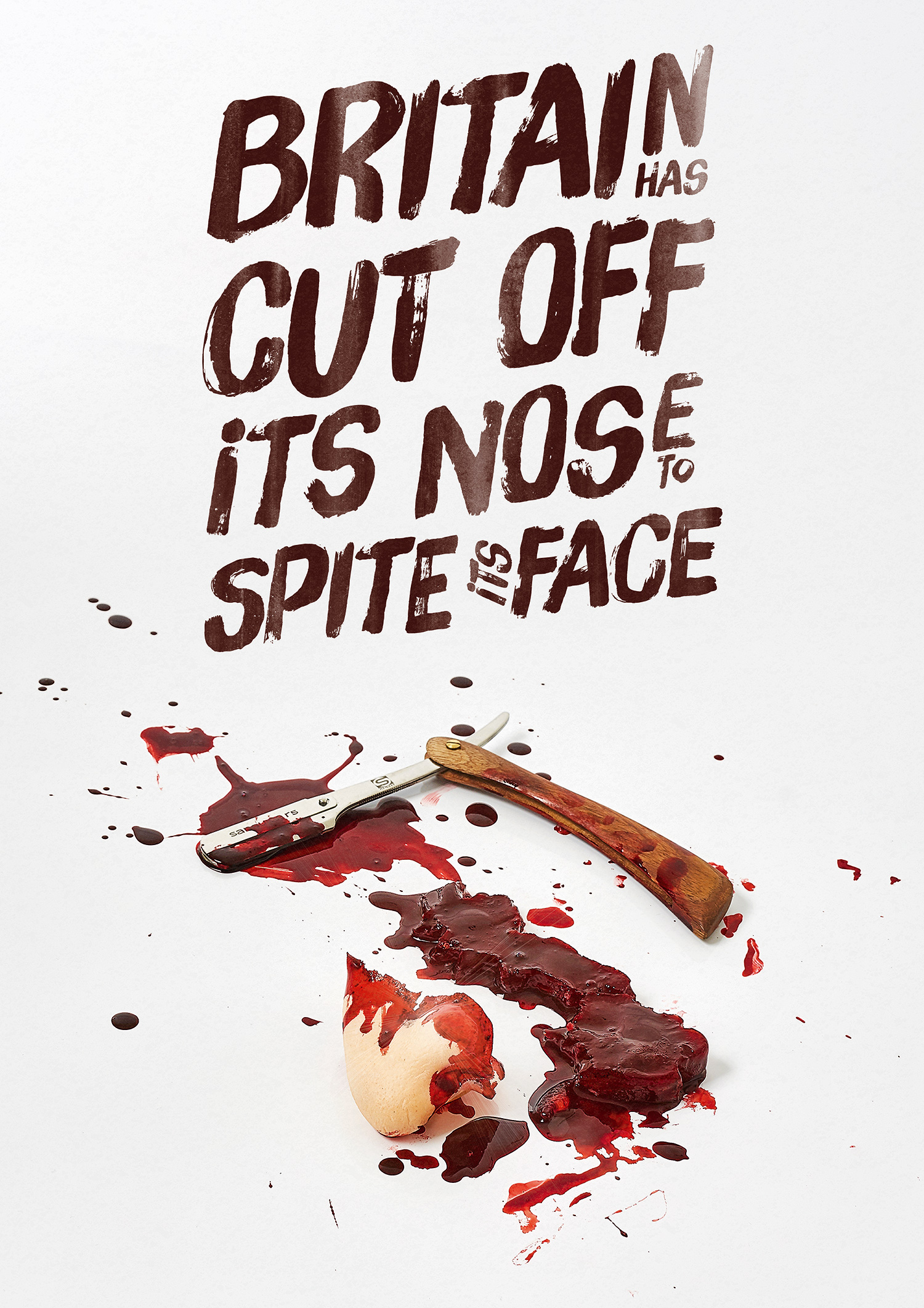 Cut Off Its Nose. A special Brexit poster.
