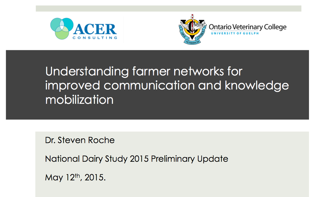 Click the image to view a presentation from Dr. Steven Roche on producer communication preferences and next steps.