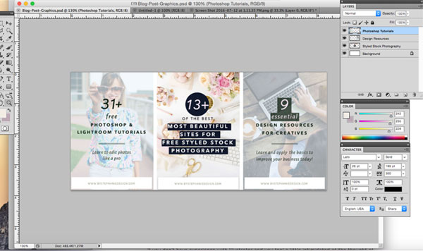 how to create eye-catching blog post graphics - by stephanie design