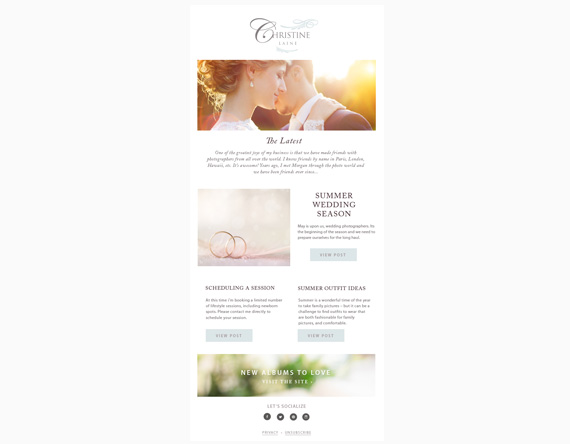 email newsletter template - by stephanie design