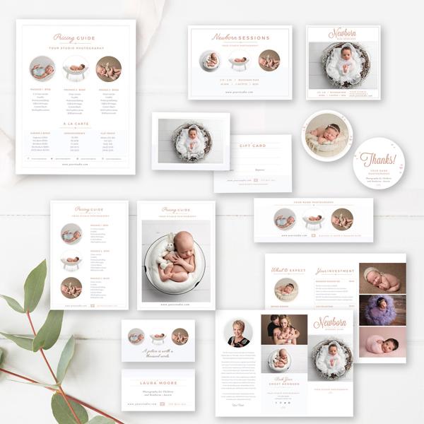 newborn photographer marketing set