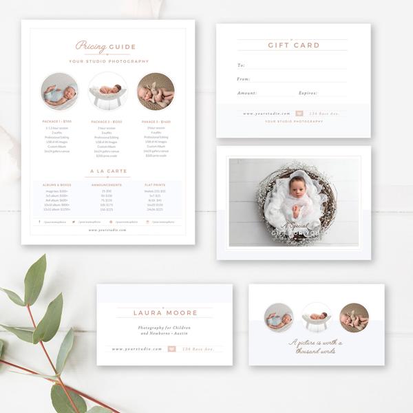 newborn photographer marketing set - by stephanie design