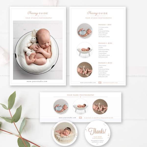 newborn photographer marketing suite - photographer templates - by stephanie design